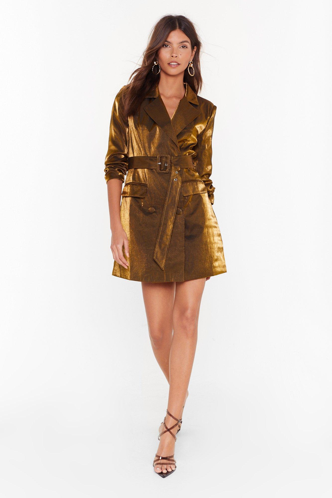 Image of And the Shimmer is Mini Blazer Dress