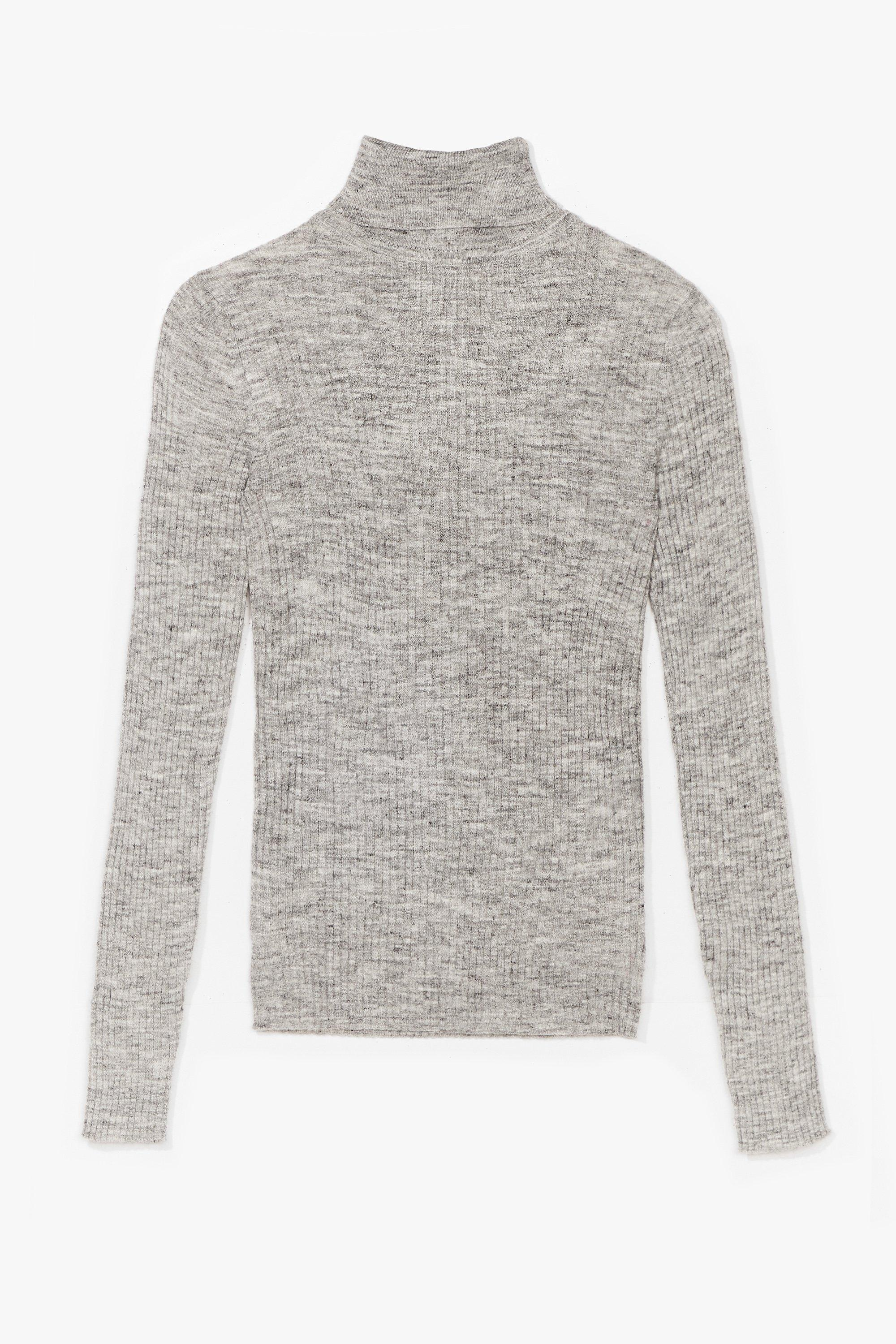 Image of Had Knit Up to Here Ribbed Turtleneck Sweater
