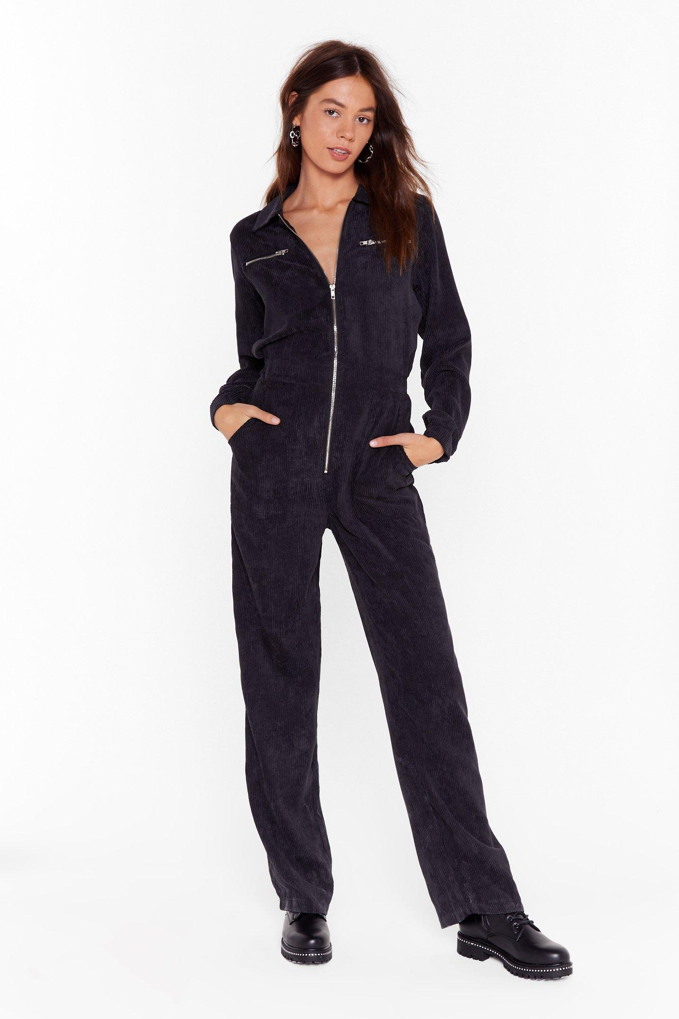 Image of Cord Out Relaxed Corduroy Boilersuit