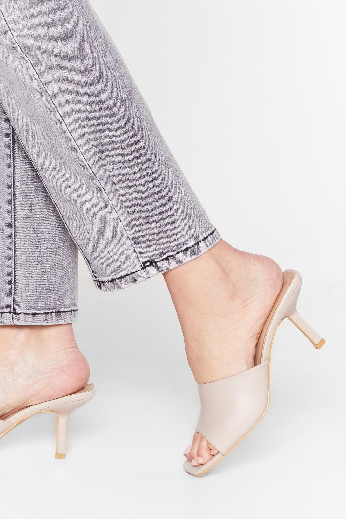 Image of Don't Mule It Over Faux Leather Stiletto Mules