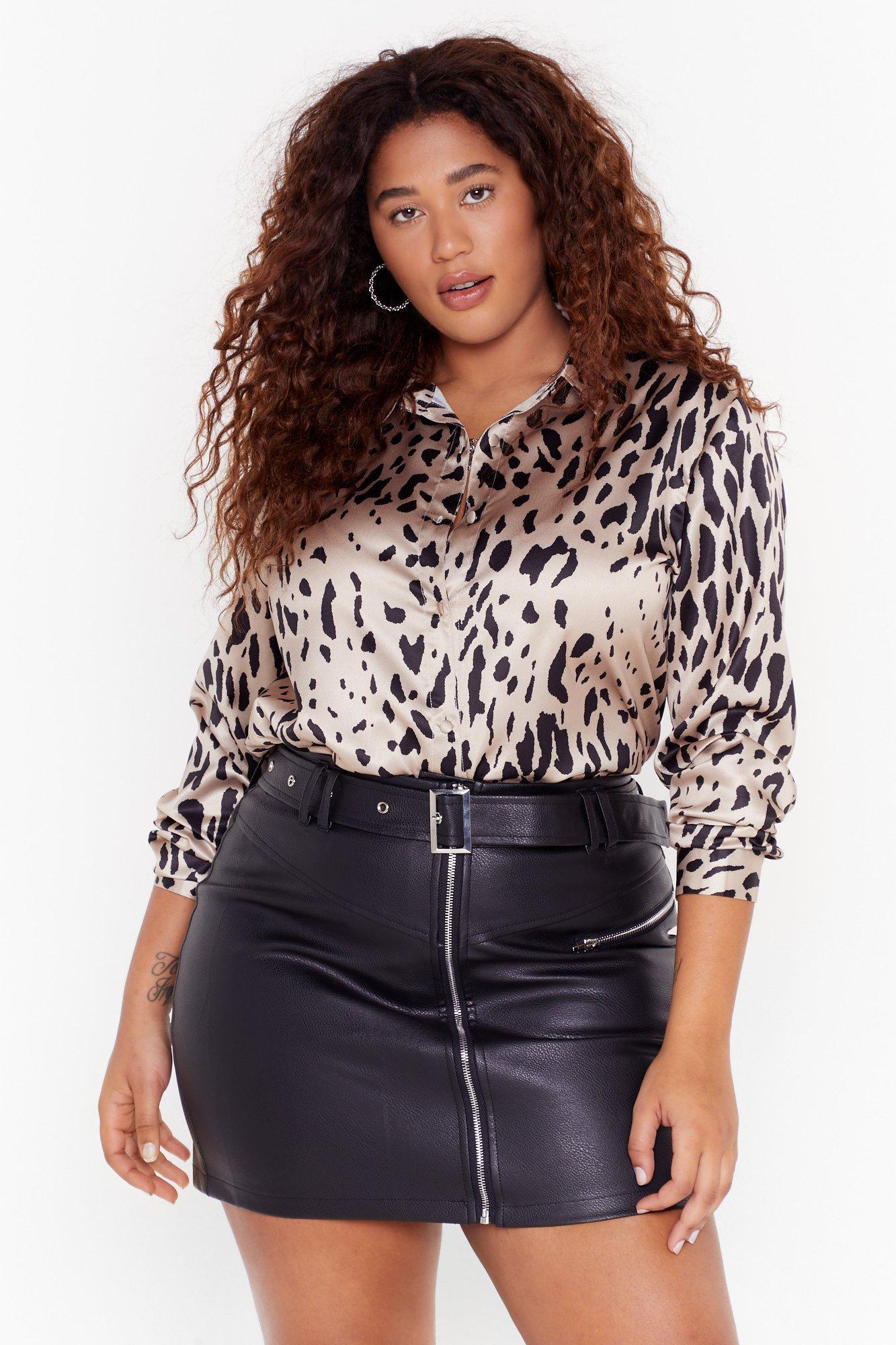Image of Dreams Run Wild Plus Leopard Shirt