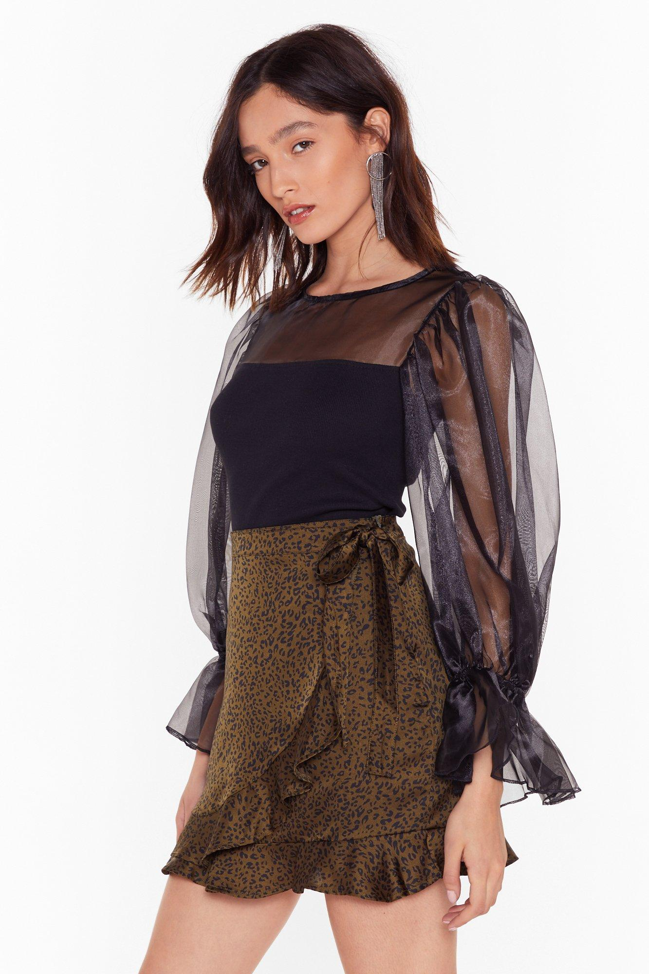 Image of We Are Sheer for It Organza Balloon Sleeve Top
