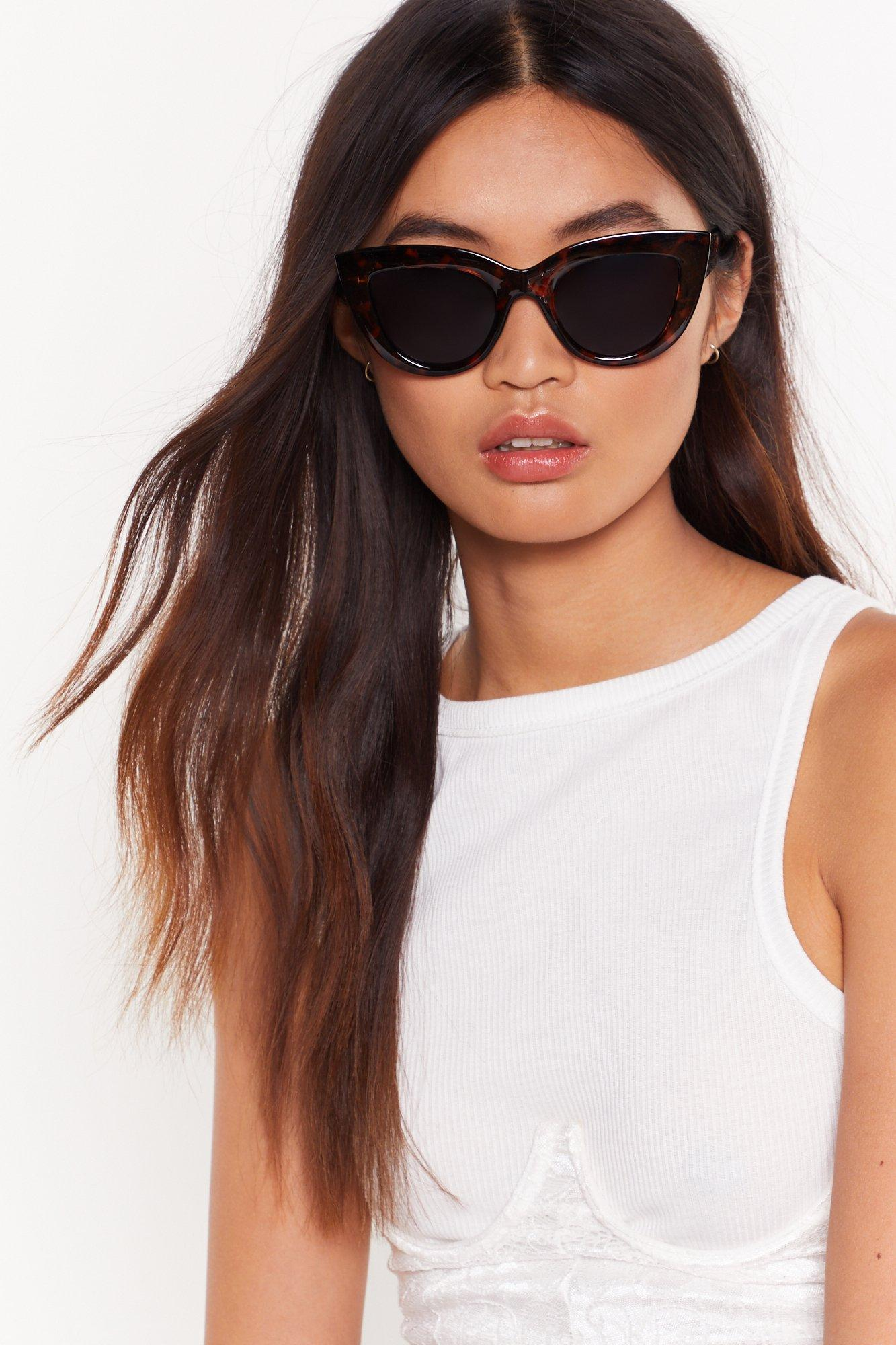 Image of Hold That Tort Cat-Eye Sunglasses