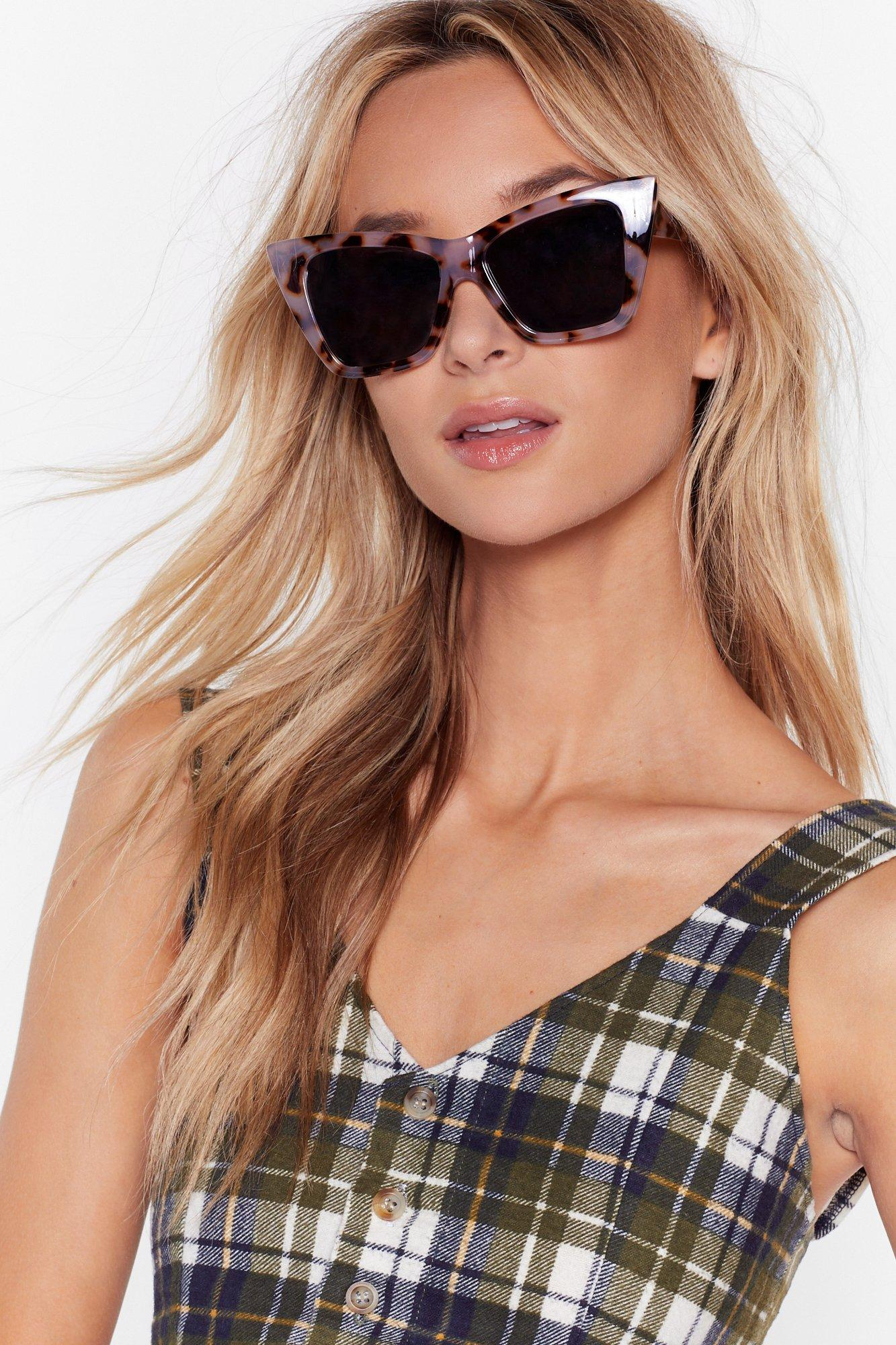 Image of The Tort of You Oversized Cat-Eye Sunglasses
