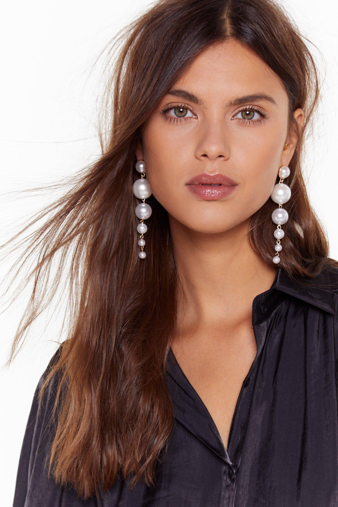 Image of Pearl Talk Drop Earrings