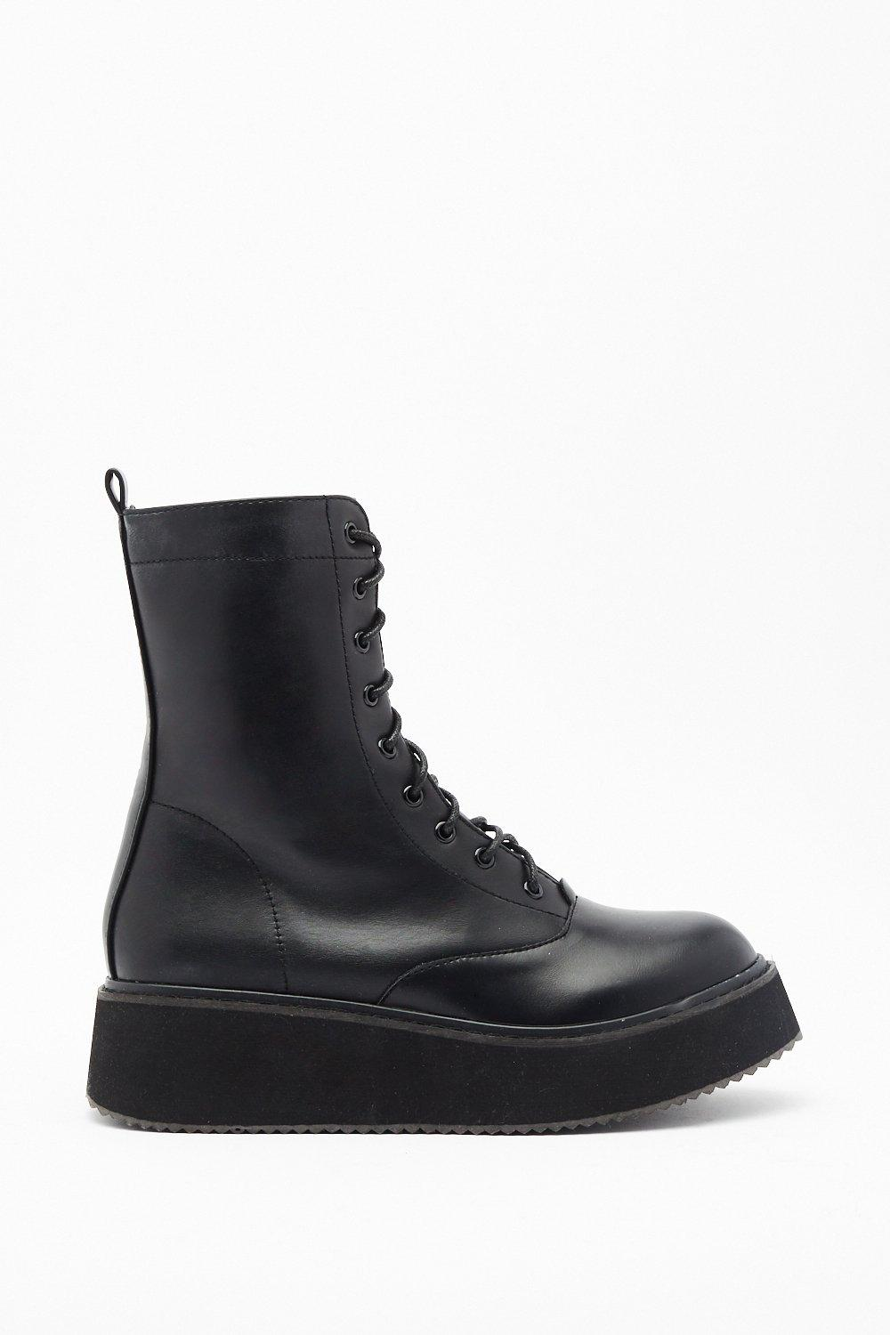 Image of Walk It Off Faux Leather Heeled Boots