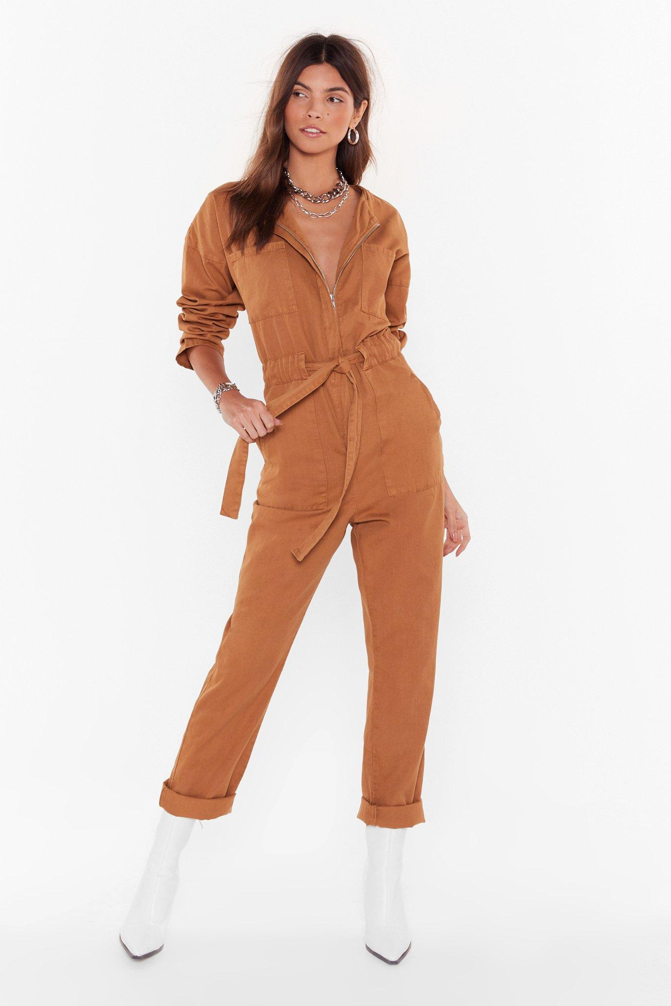 Image of All Work No Play Relaxed Denim Boilersuit
