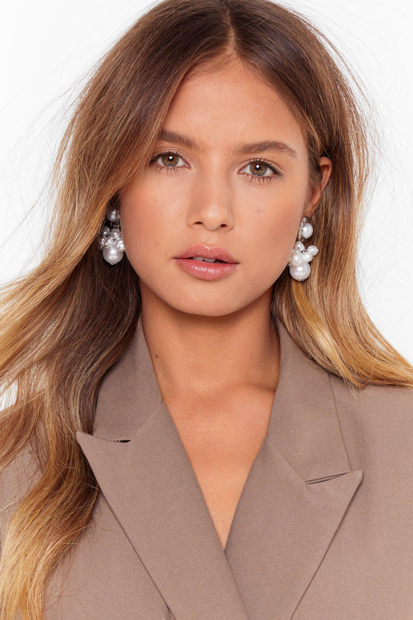Image of We're Worth It Pearl-Inspired Drop Earrings
