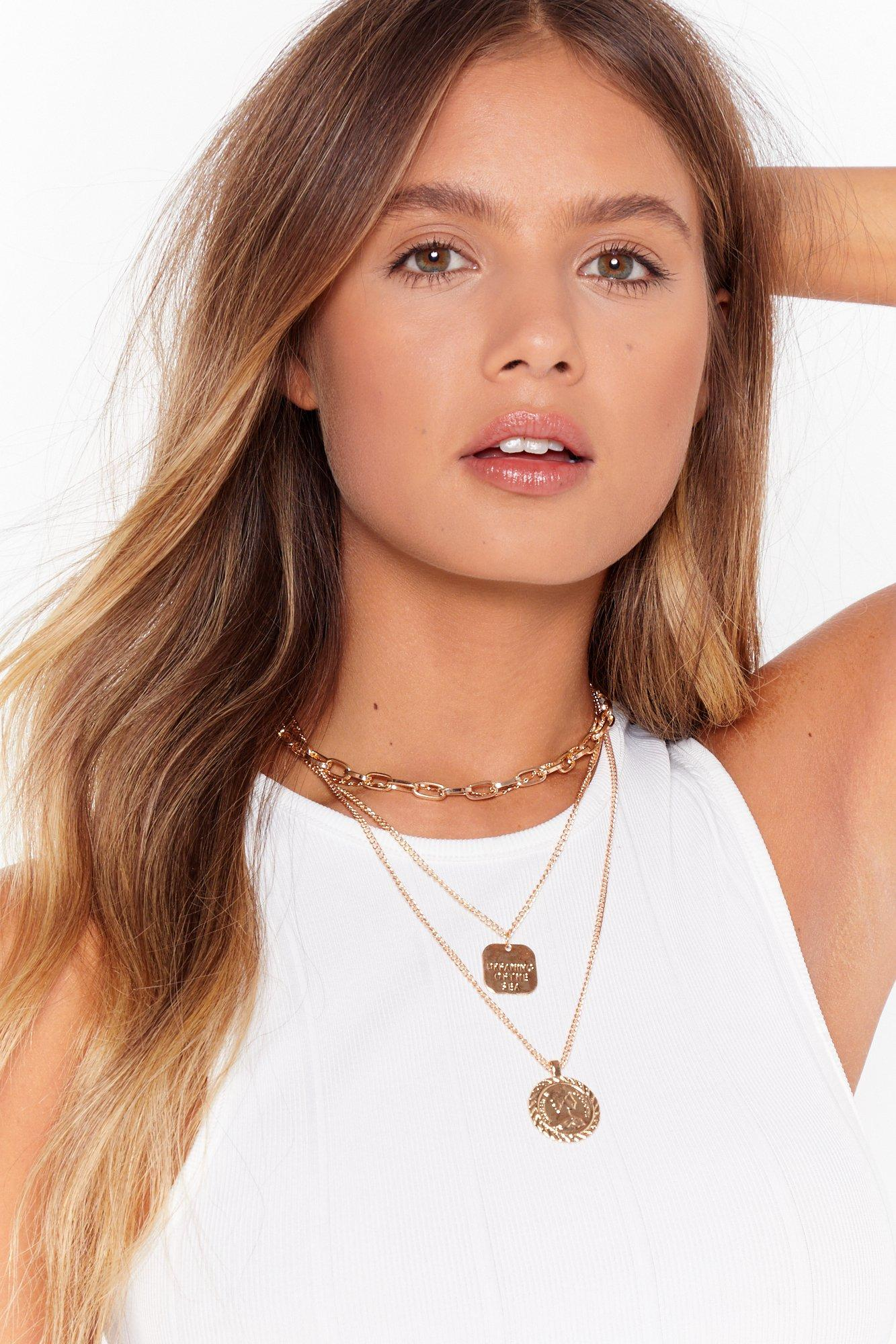 Image of Dreaming of the Sea Layered Chain Necklace