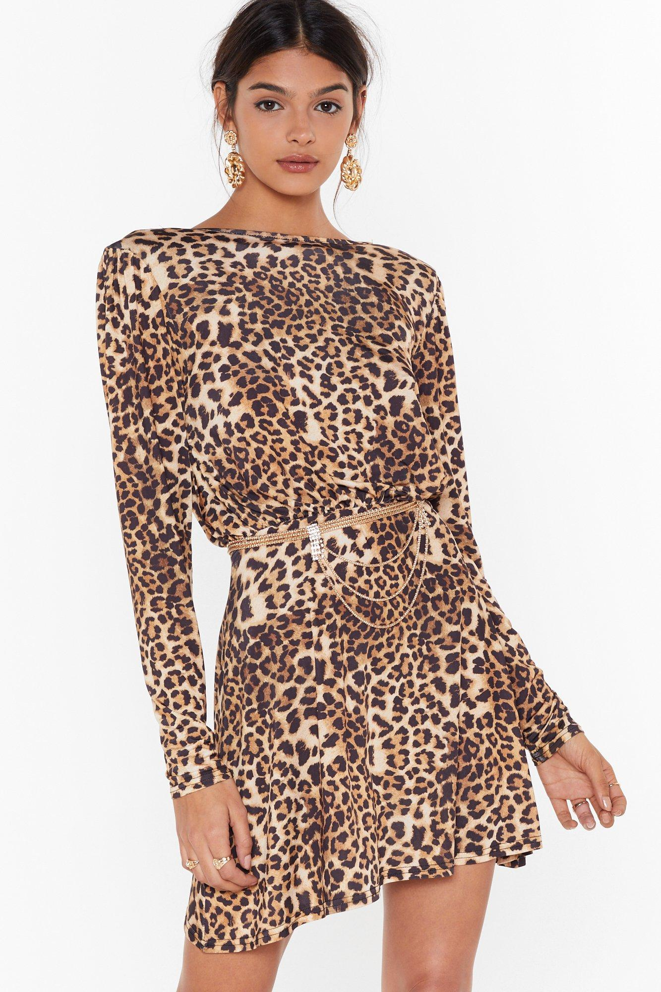 Image of Hey Wild Child Leopard Mini Dress