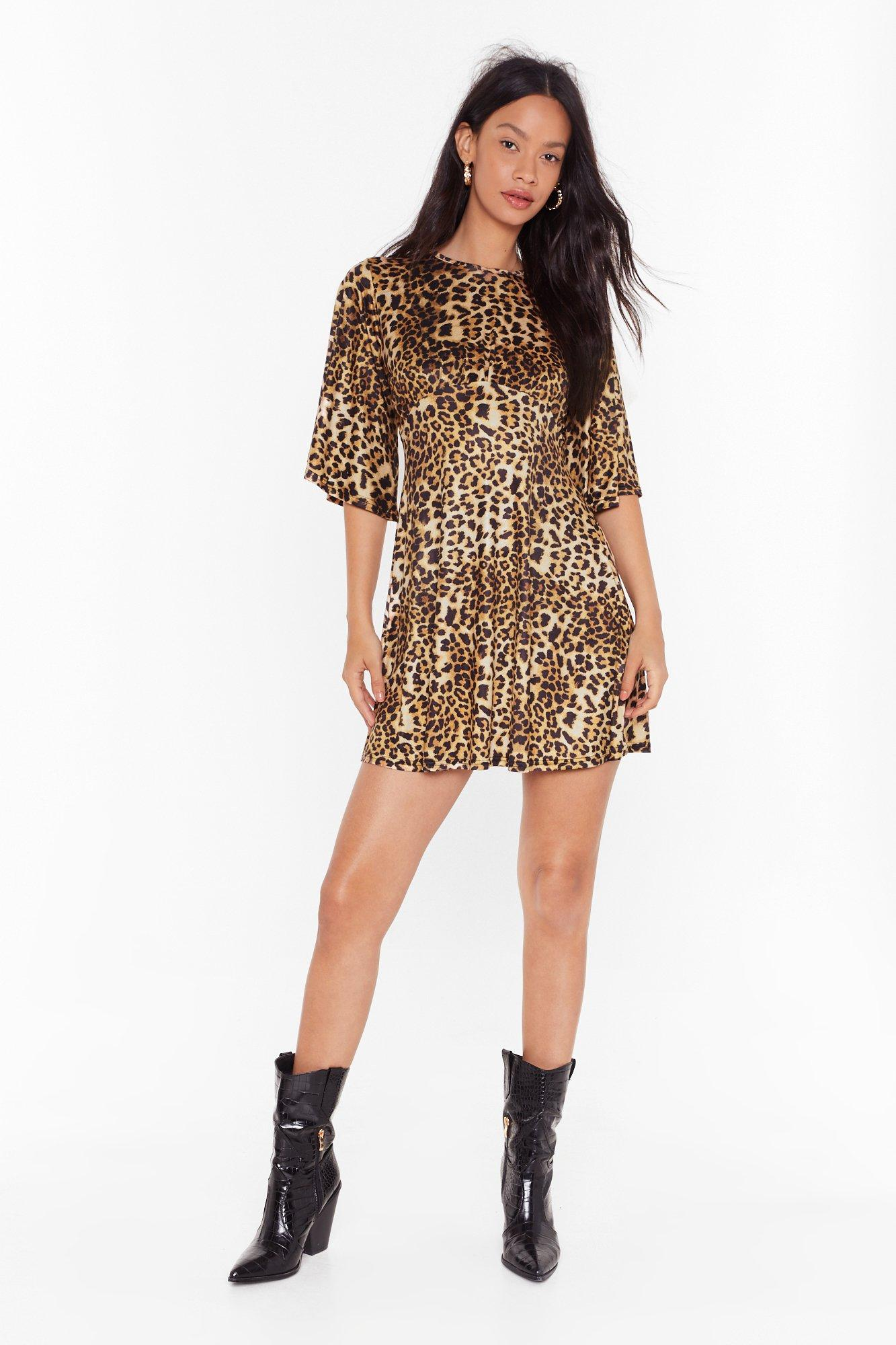 Image of She's Fierce Leopard Mini Dress