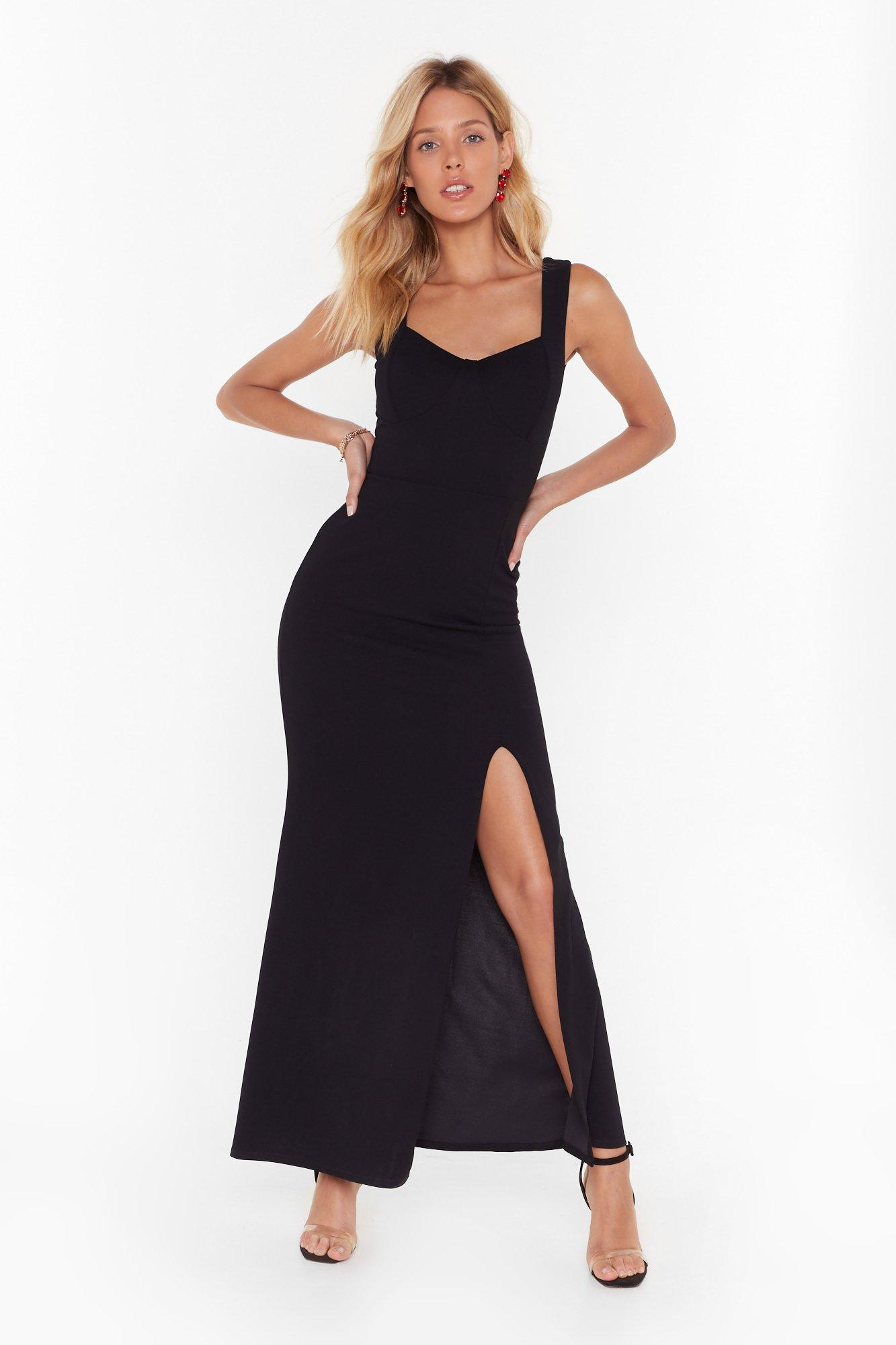 Image of What You Cup to Tonight Slit Maxi Dress