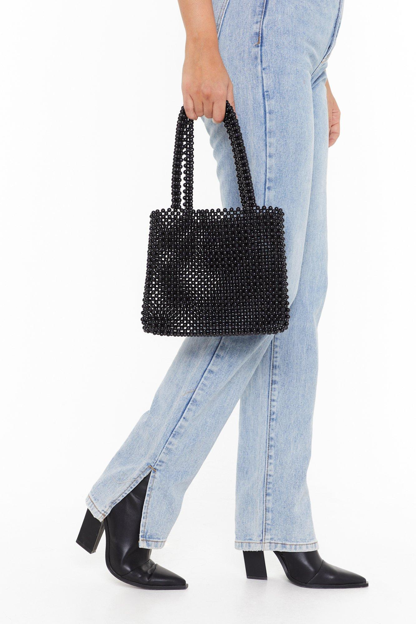 Image of WANT All I Need Beaded Handbag