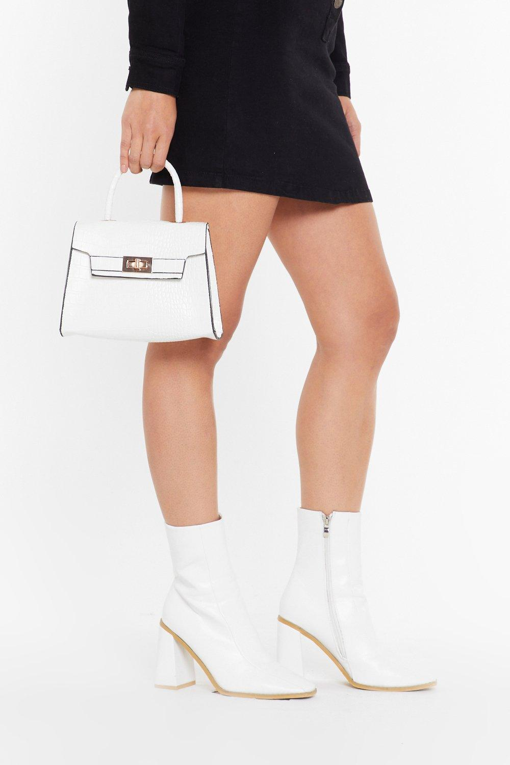 Image of WANT We're in Croc Faux Leather Bag