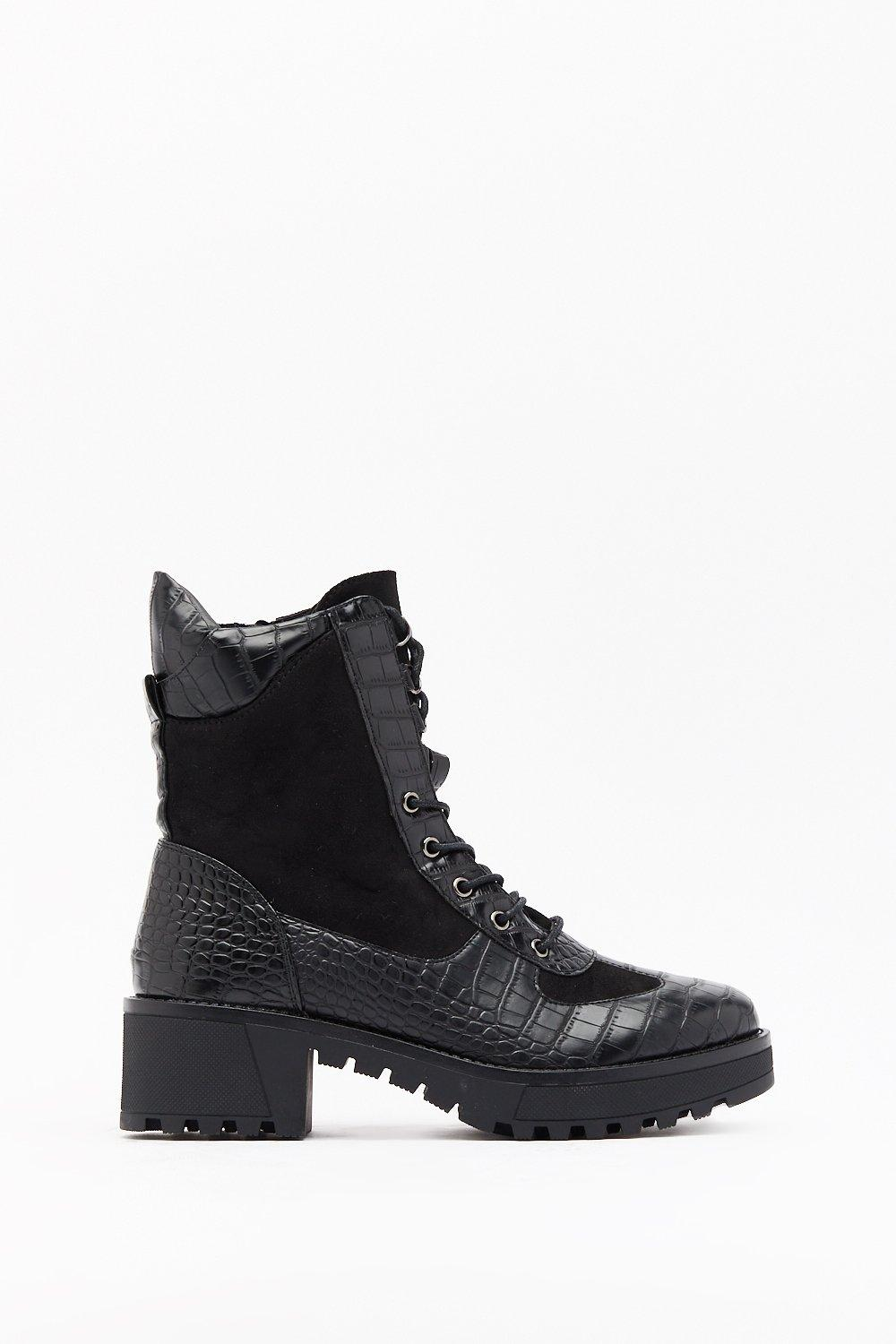 Image of Croc You Want Faux Leather Hiker Boots