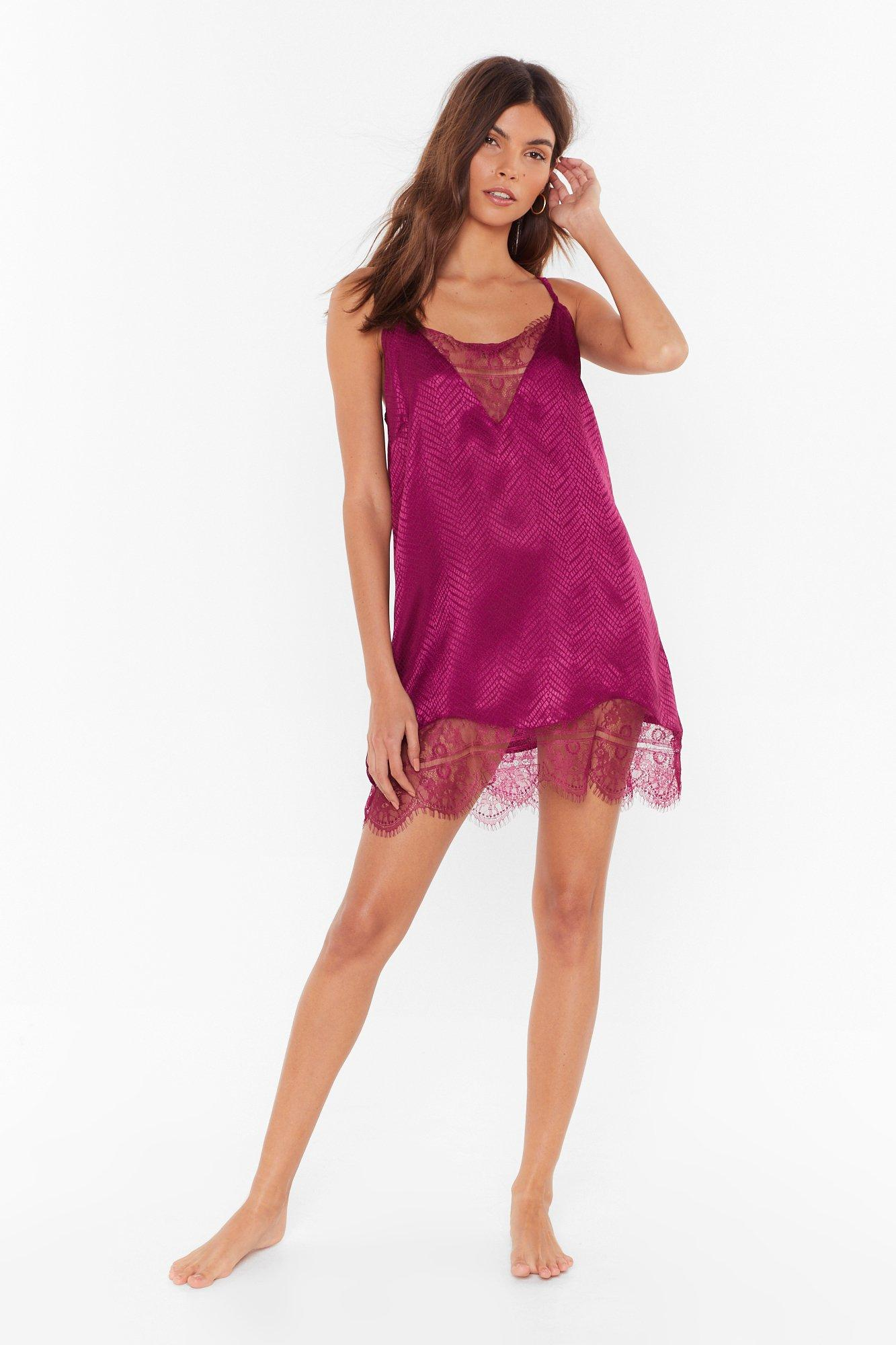 Image of Not Sleeking Alone Lace Jacquard Nightie