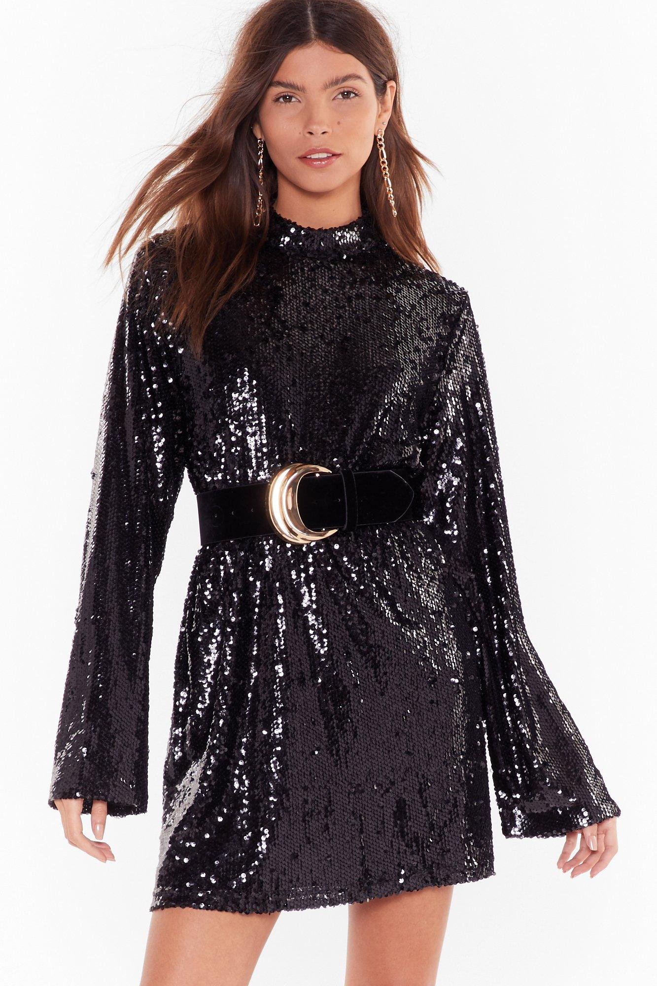 Image of Get the Party Started Sequin Mini Dress