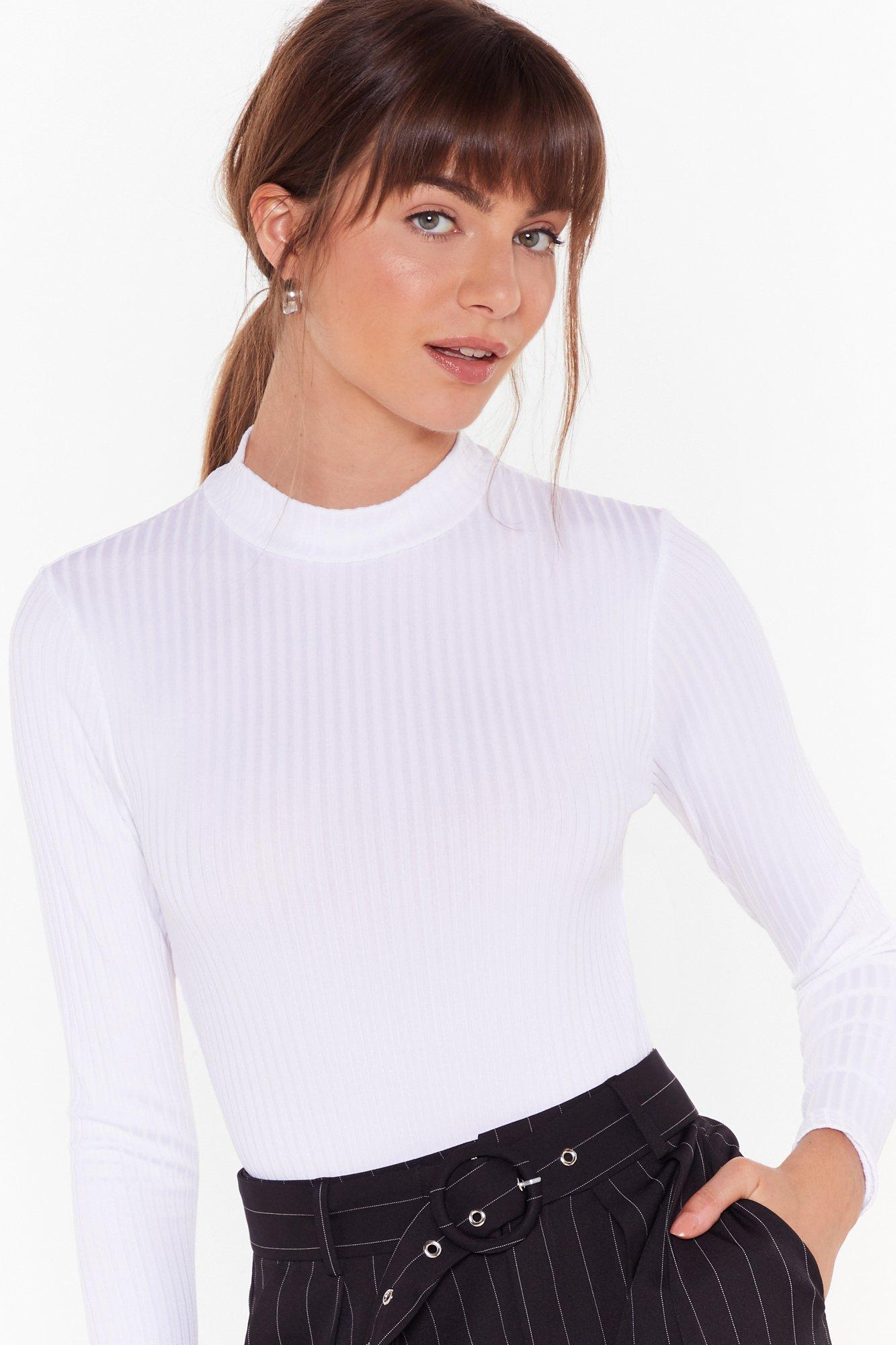 Image of Got Your Back Ribbed Cut-Out Bodysuit