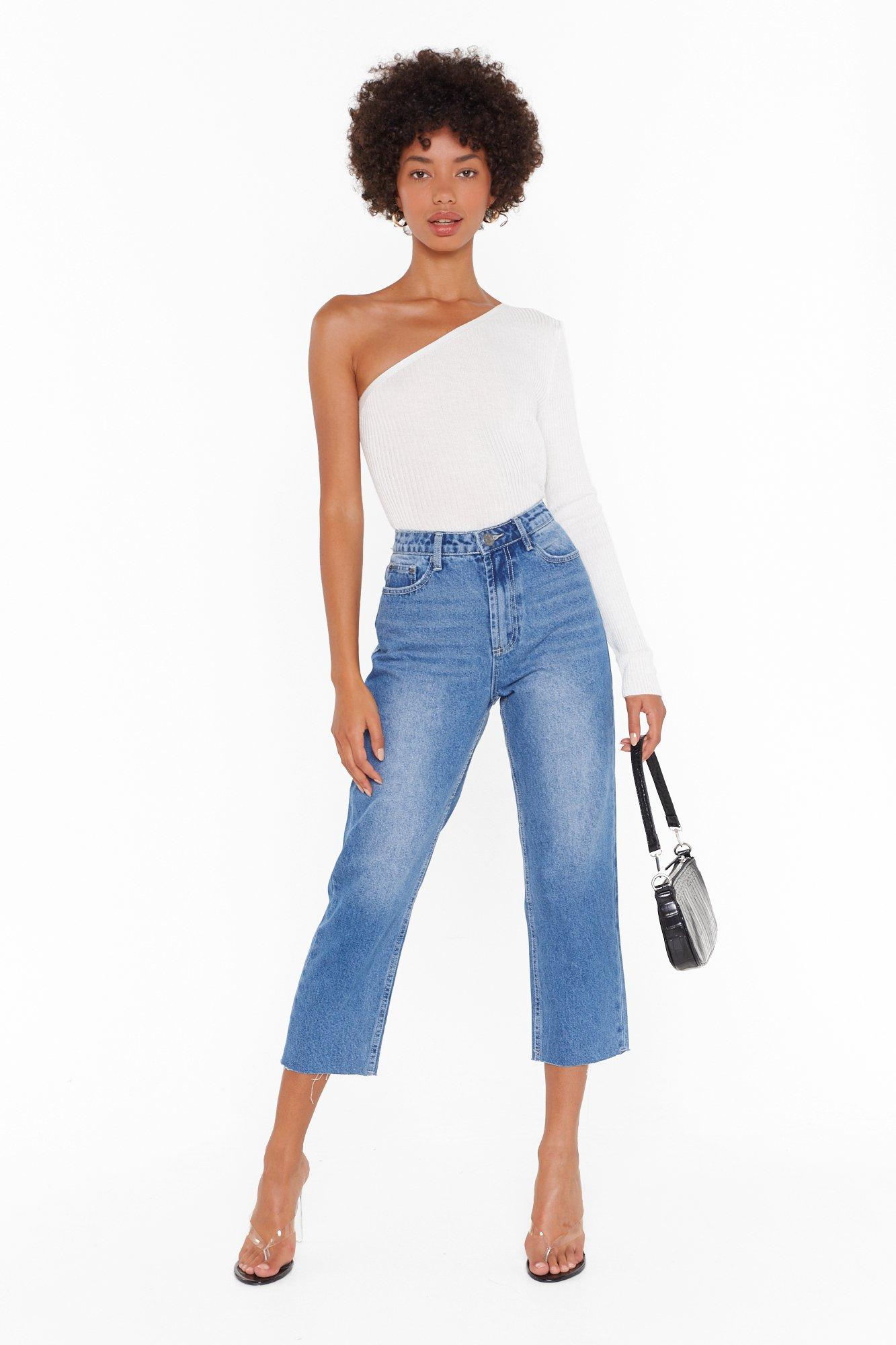Image of Tell Us What You Raw Hem Cropped Jeans