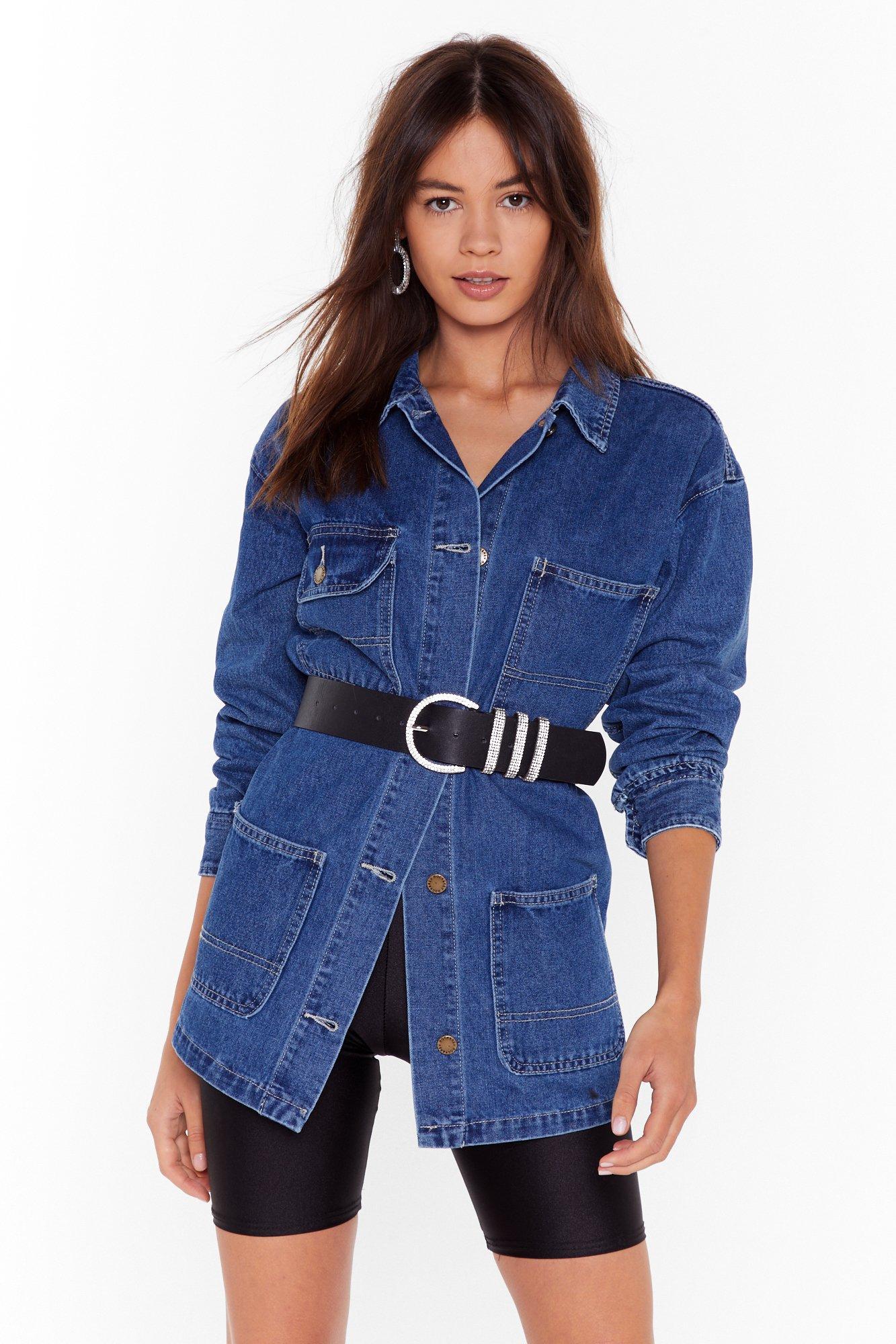 Image of I'm a Jean-ius Denim Longline Jacket
