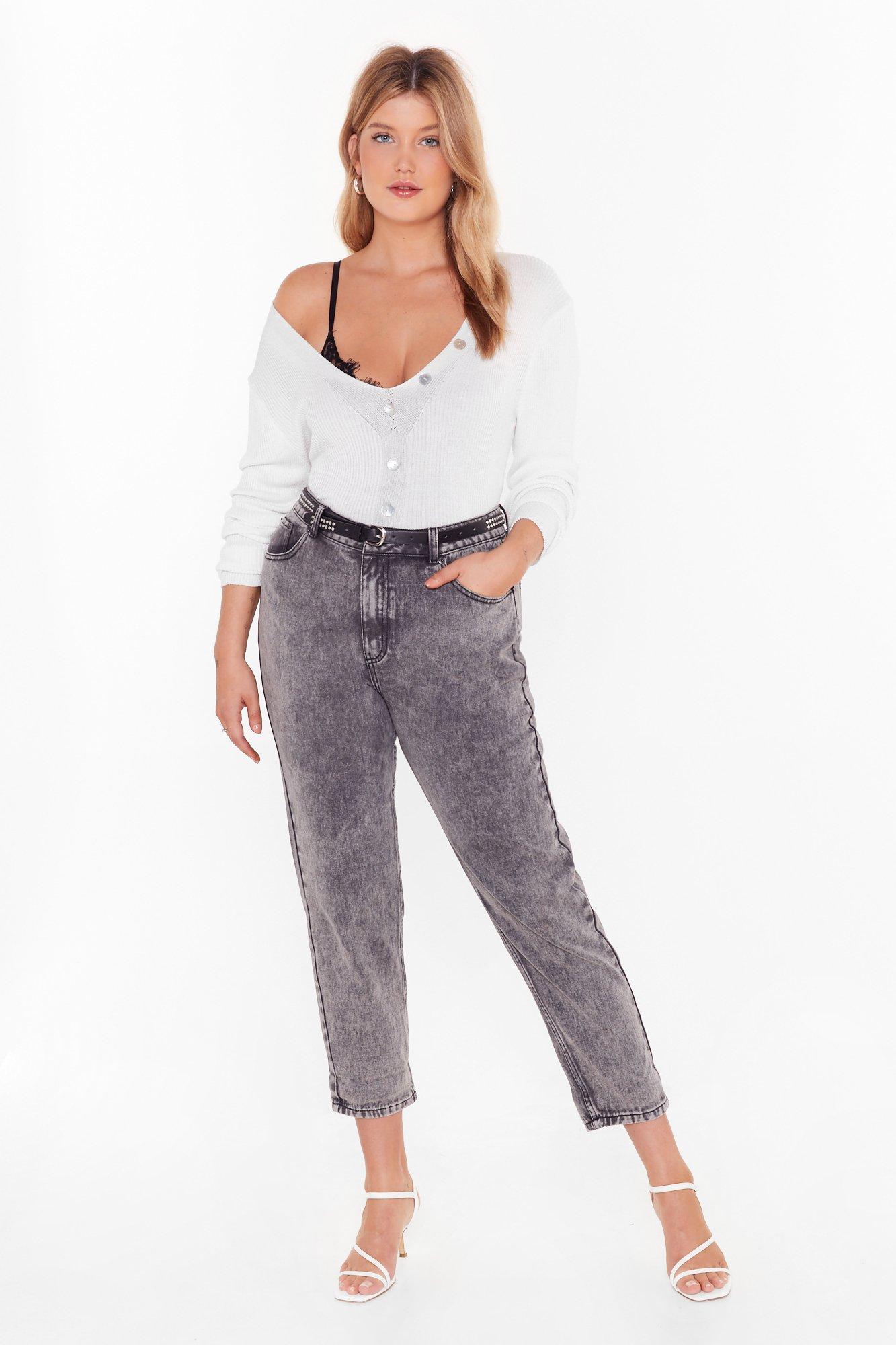 Image of Wash 'Em Go Acid Wash Mom Jeans