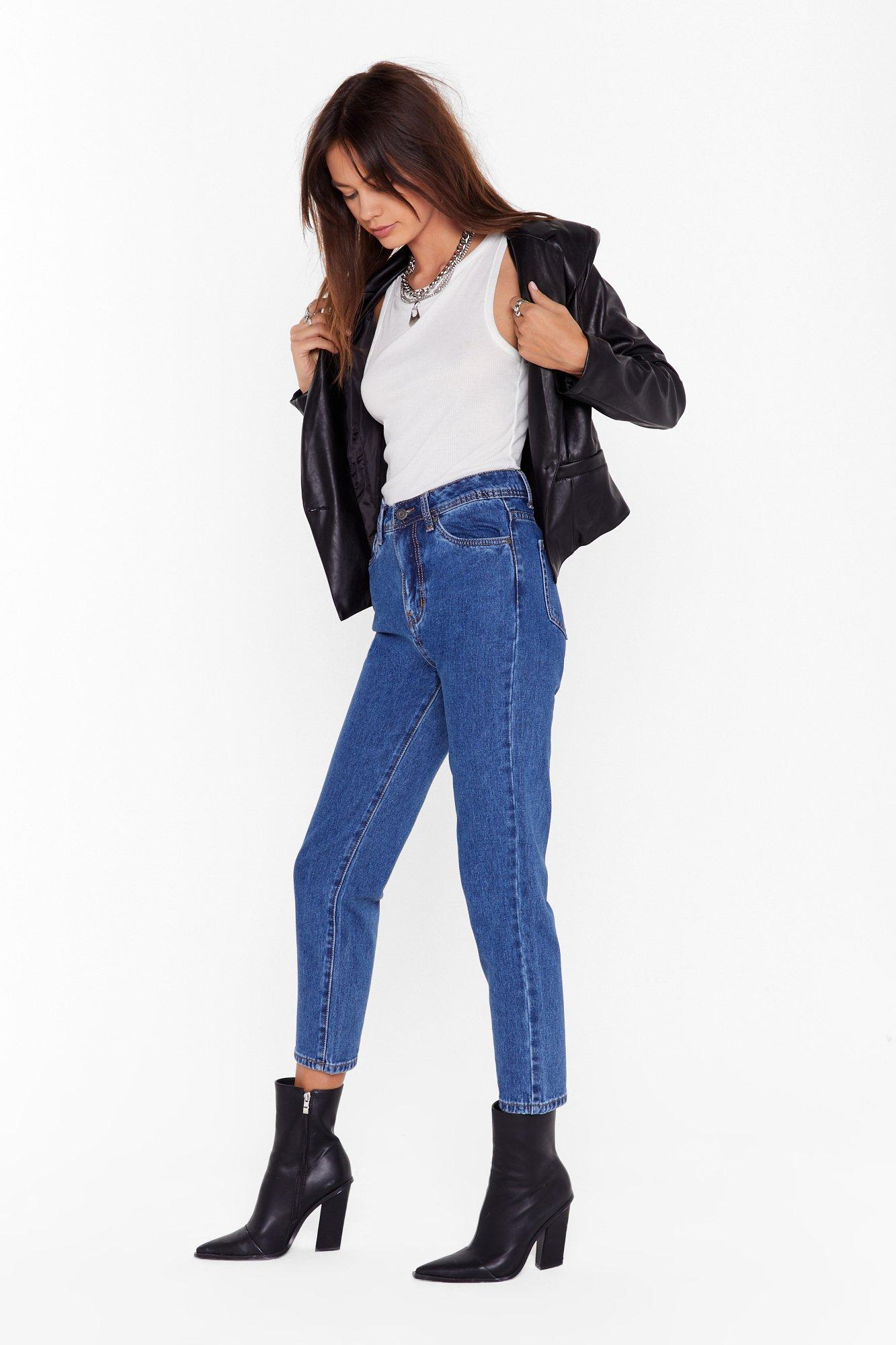 Image of Mom Would Approve High-Waisted Denim Jeans