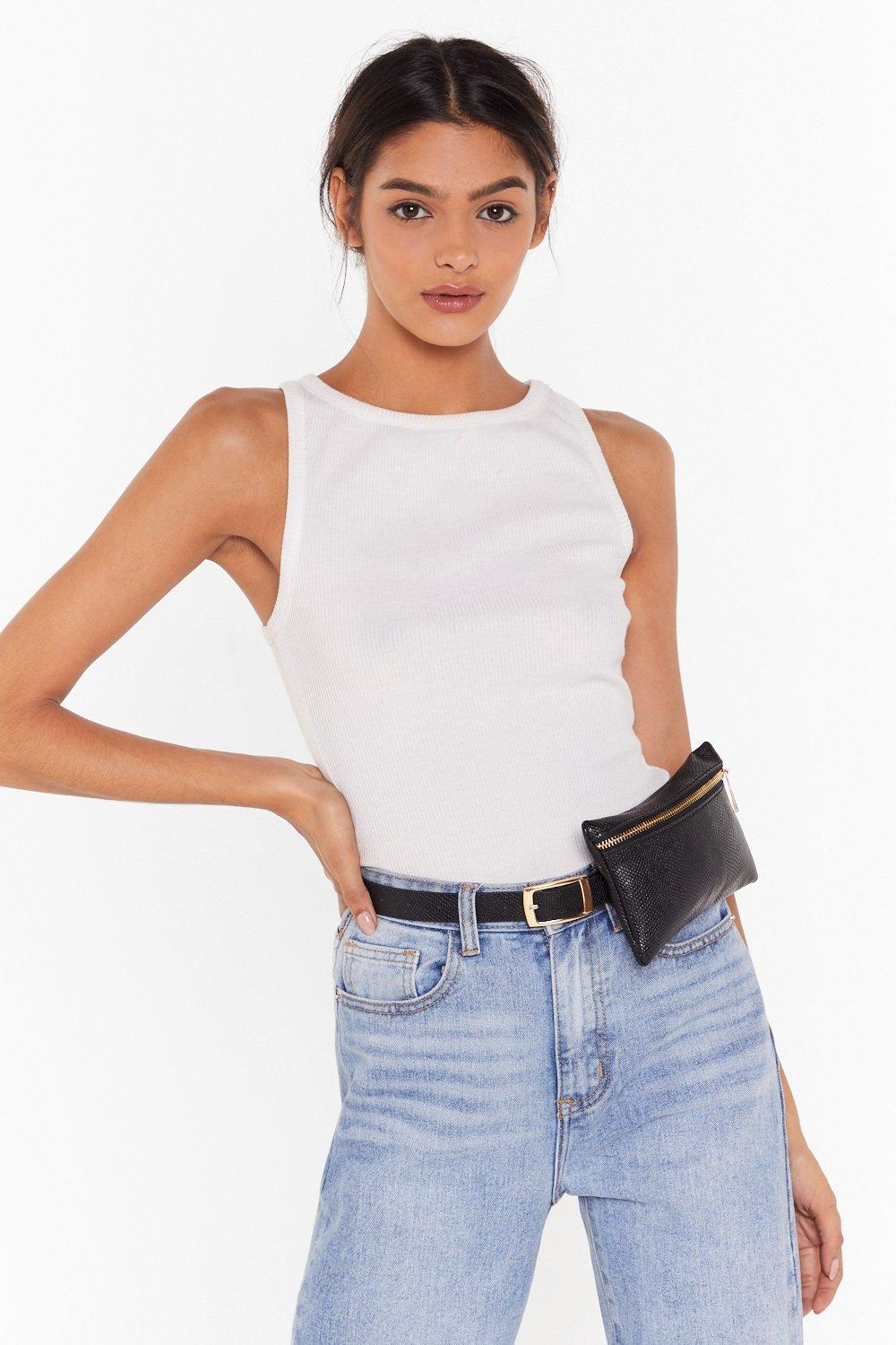 Image of Pu slim belt bag
