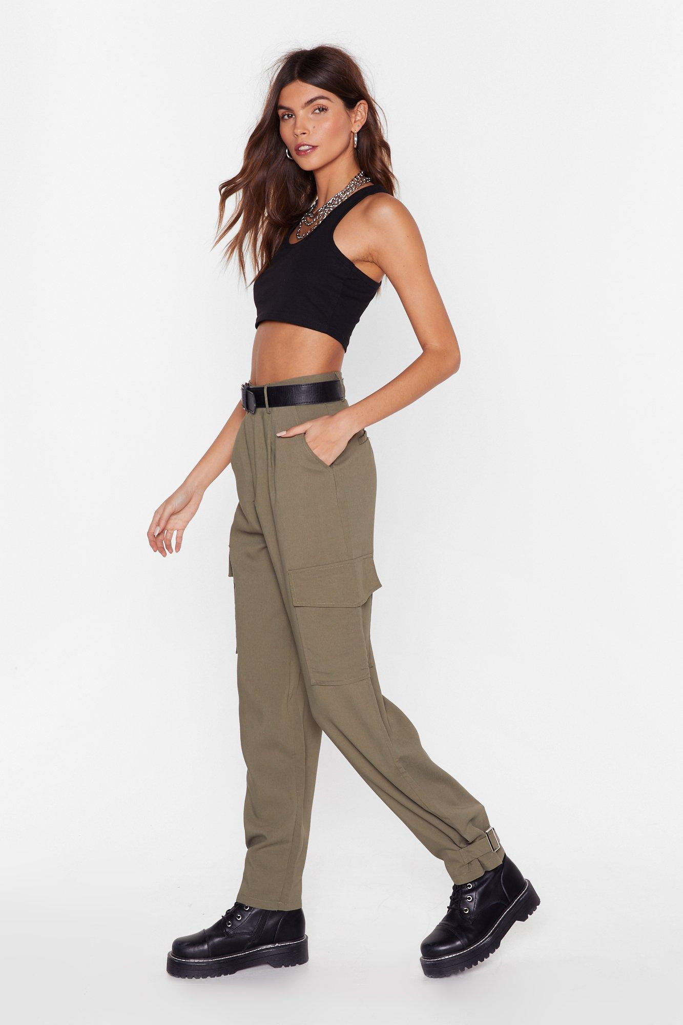 Image of We Cargo for Long Belted High-Waisted Pants