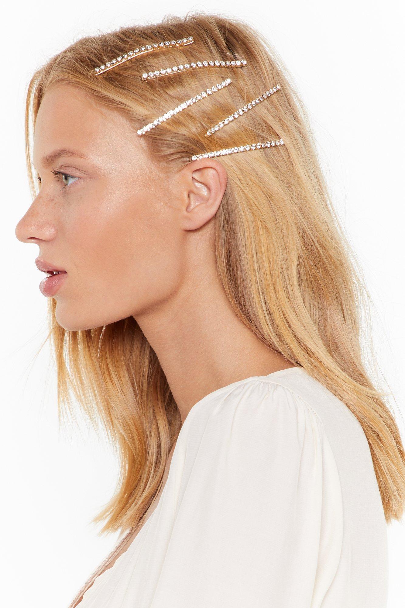 Image of Get a Grip 5-Pc Diamante Hair Slide Set