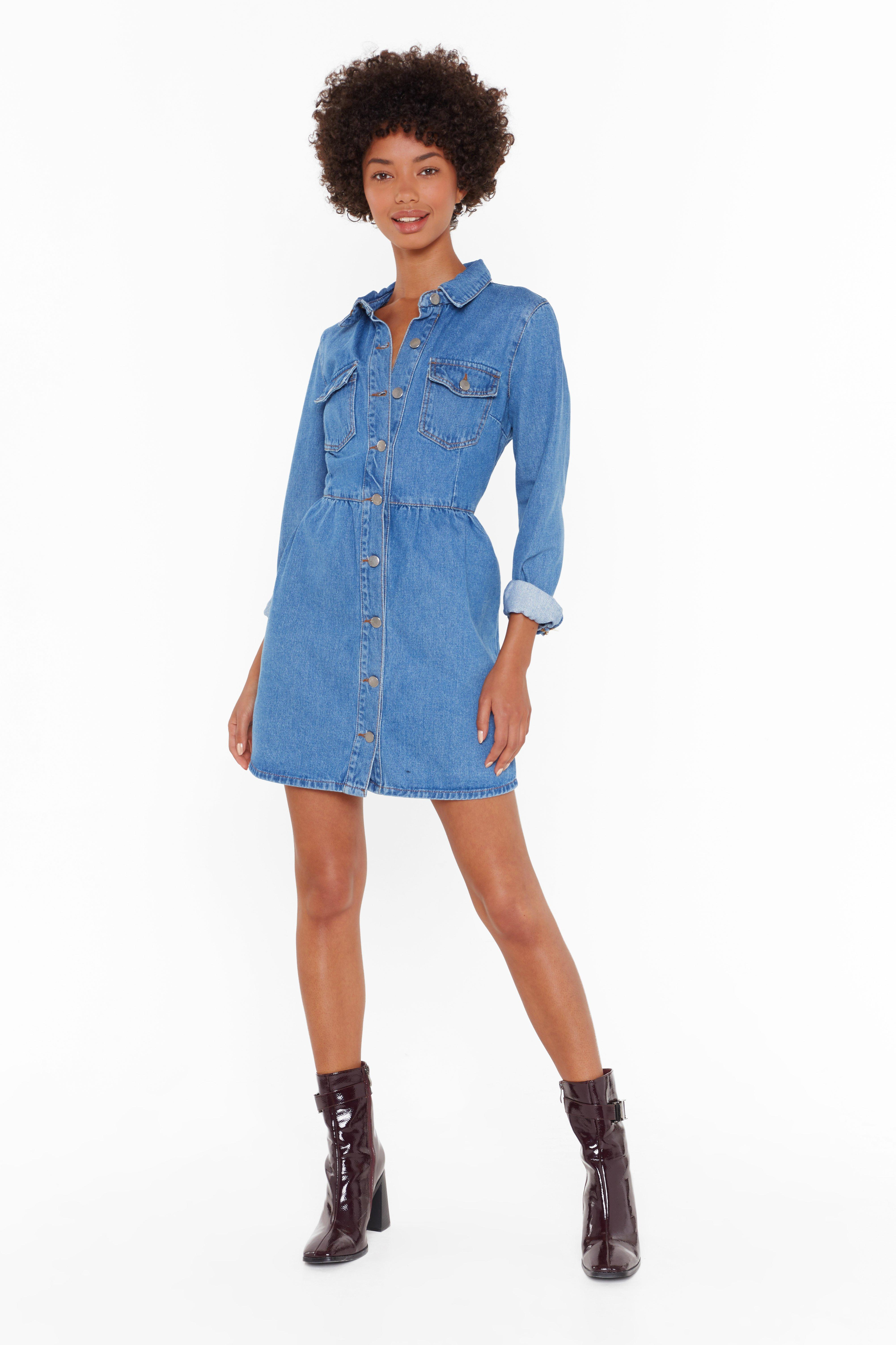 Image of Wash Your Every Move Button-Down Mini Dress