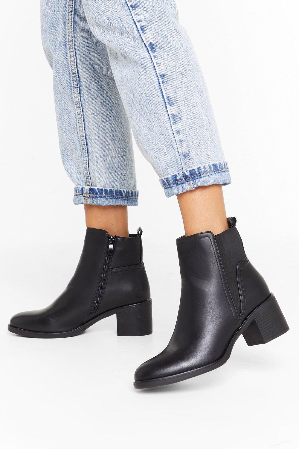 Image of Boot Your Shot Faux Leather Chelsea Boots