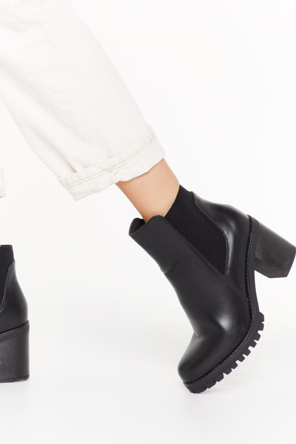 Image of Highway Toe Hell Faux Leather Heeled Boots
