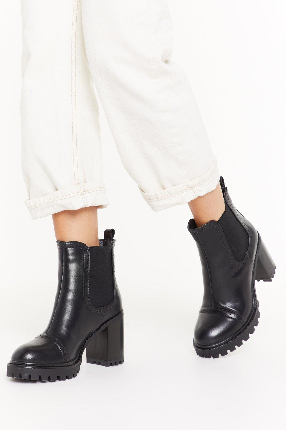 Image of Pace Yourself Faux Leather Cleated Boots