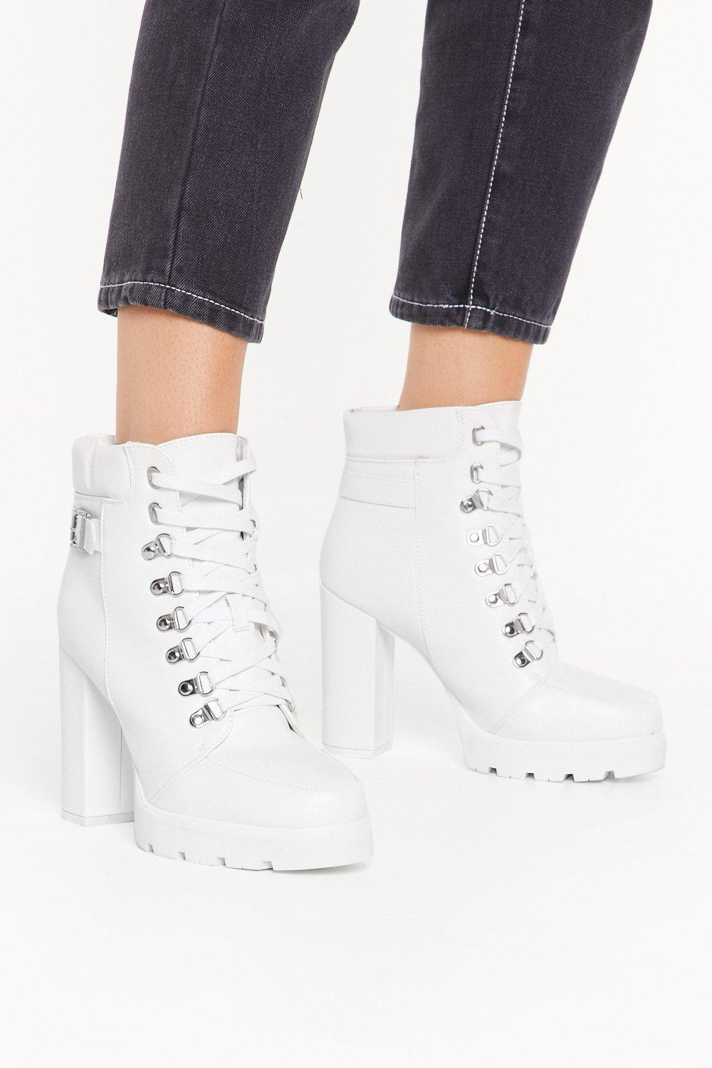 Image of Walk With Us Faux Leather Platform Boots