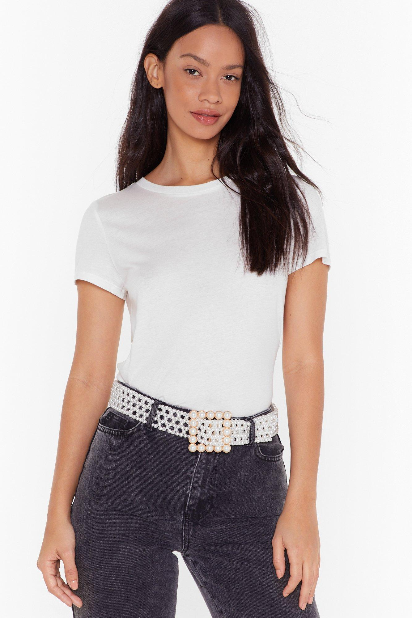 Image of Most Pearls Oversized Buckle Belt