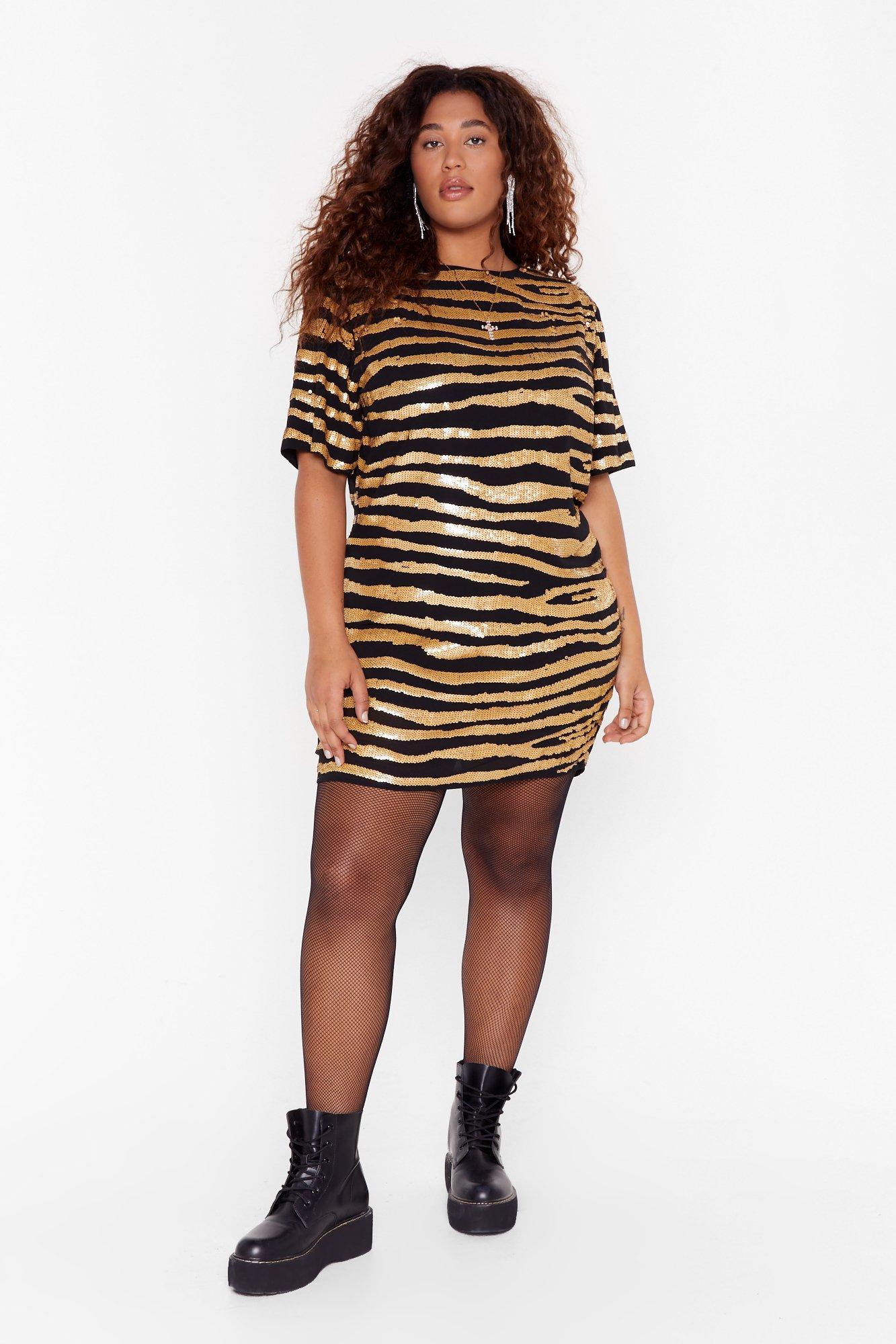 Image of Girl Gone Wild Plus Zebra Dress