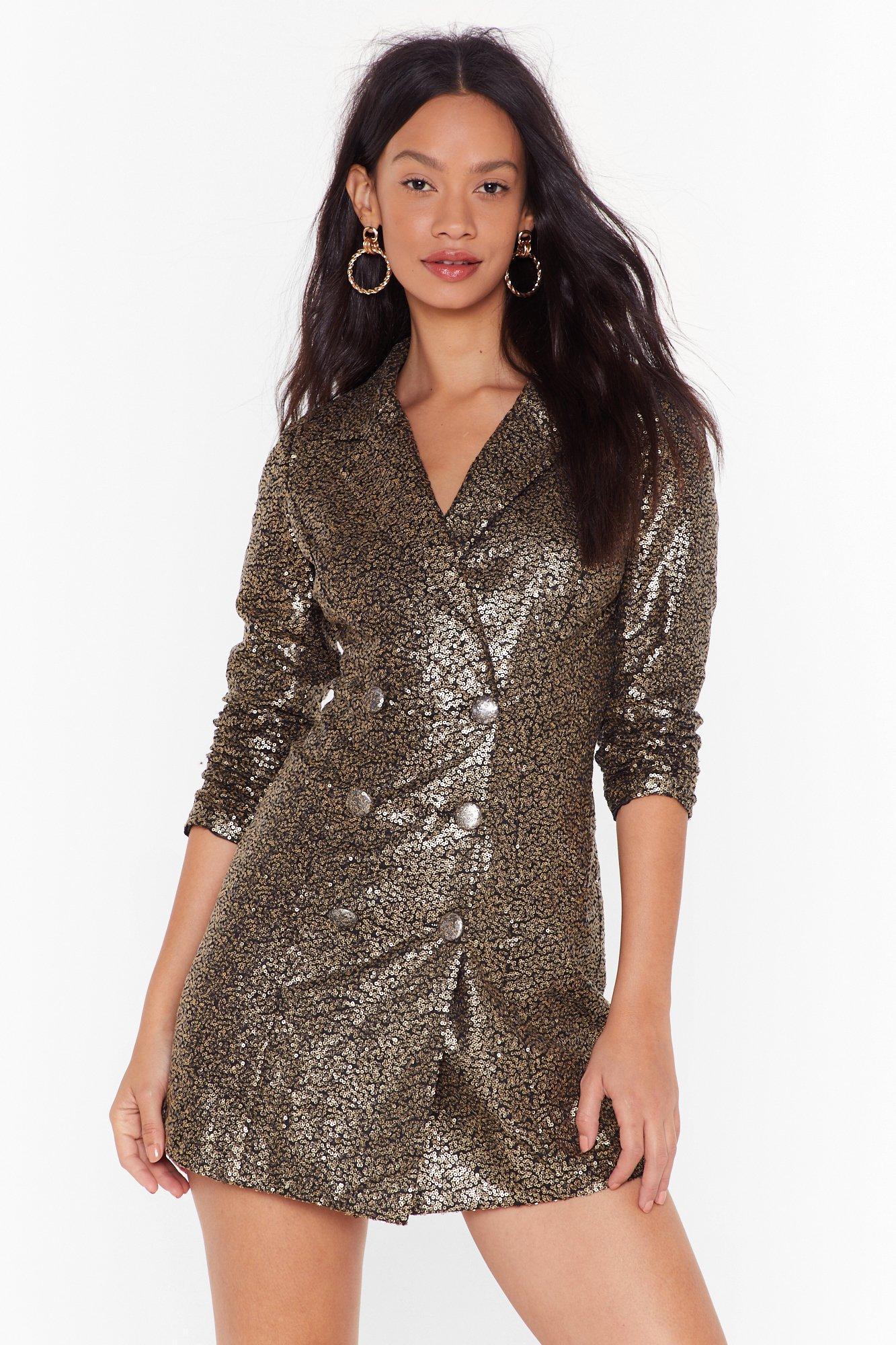 Image of We Always Sequin Blazer Dress