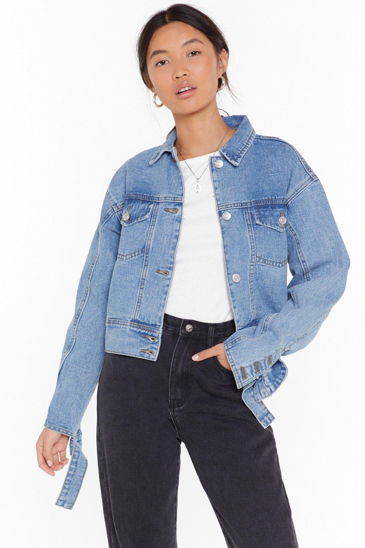 Image of Wash You Go Cropped Denim Jacket