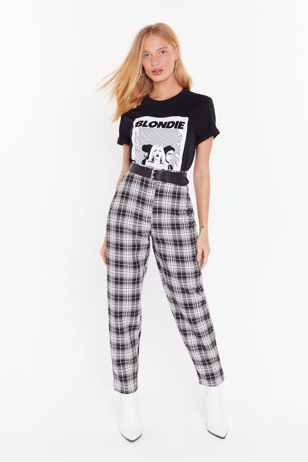 Image of One Check of a Night Tapered Pants