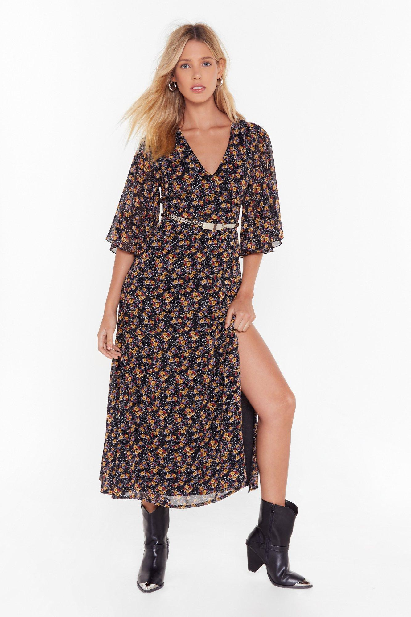 Image of Just Go With the Floral Maxi Dress