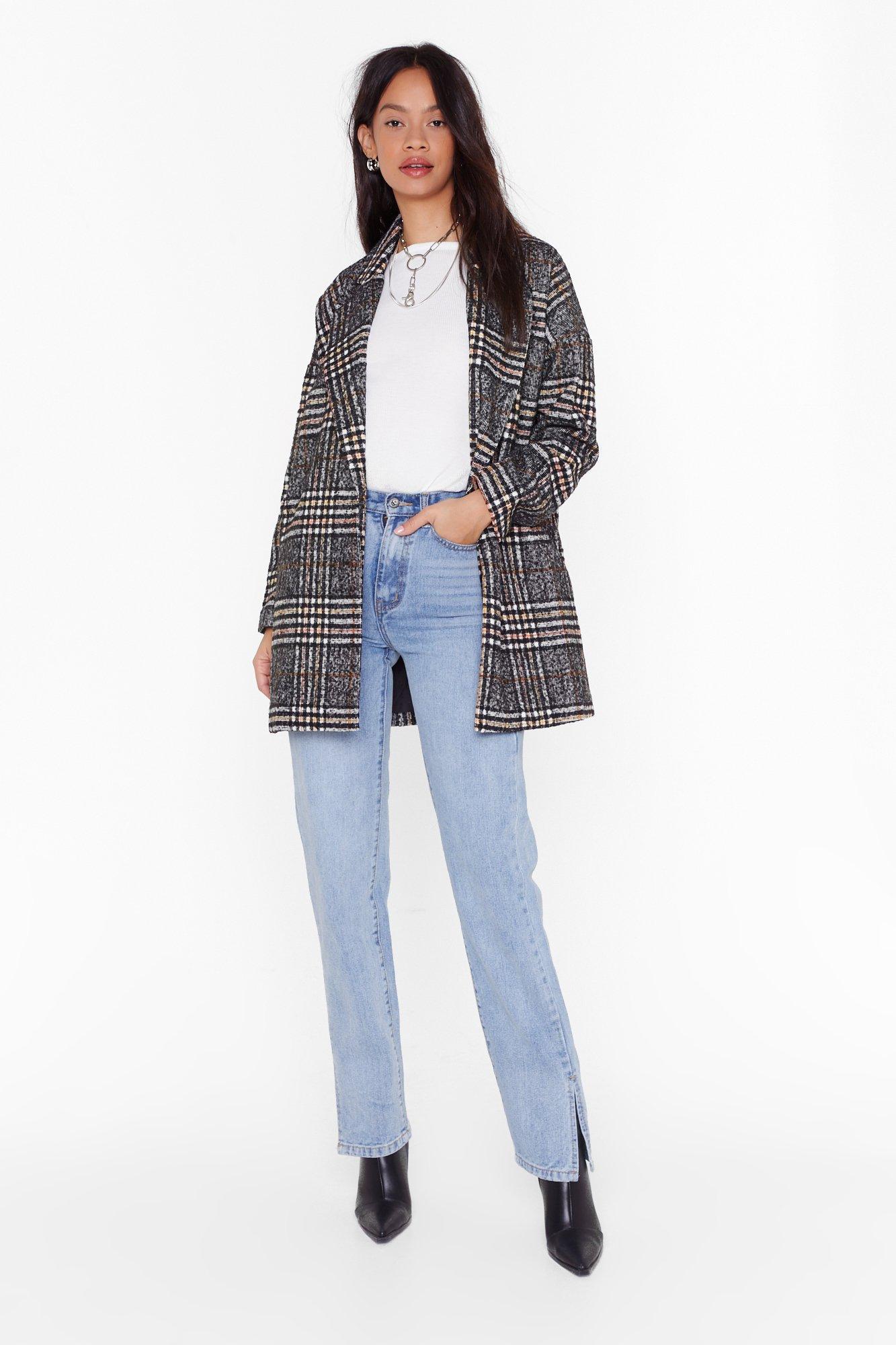 Image of I Want You So Plaid Oversized Coat