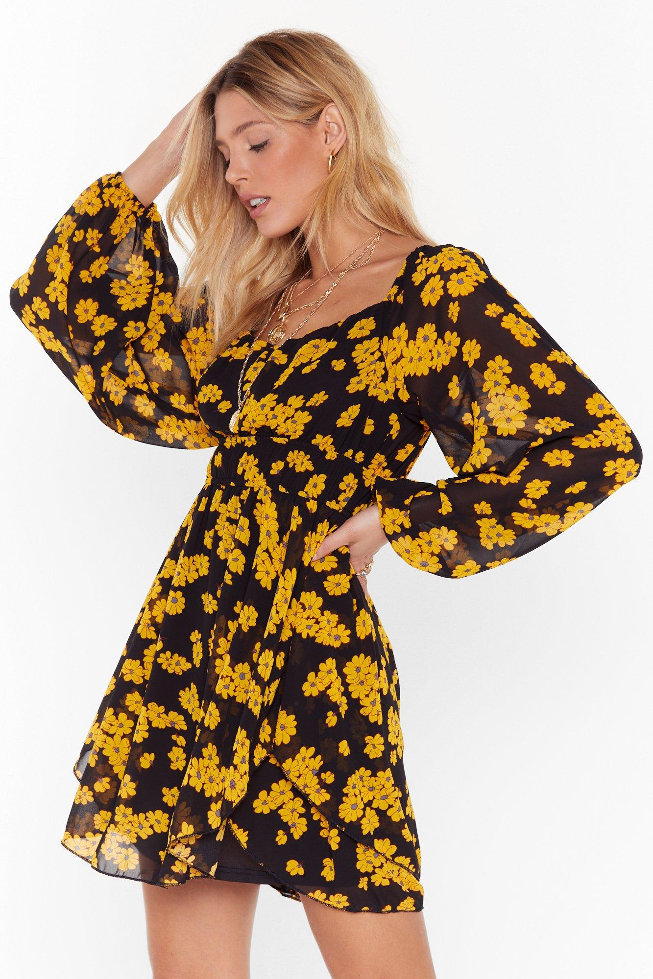 Image of Can't Say Grow Floral Mini Dress