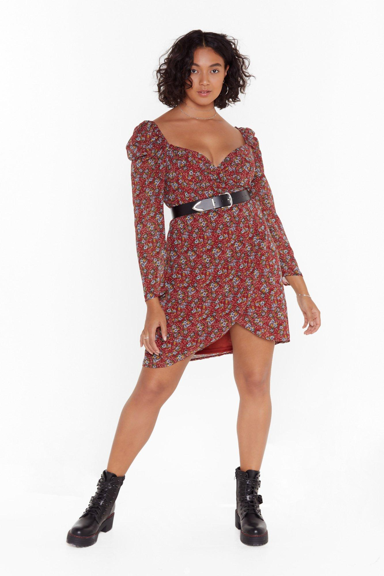 Image of Best Buds Plus Floral Mini Dress