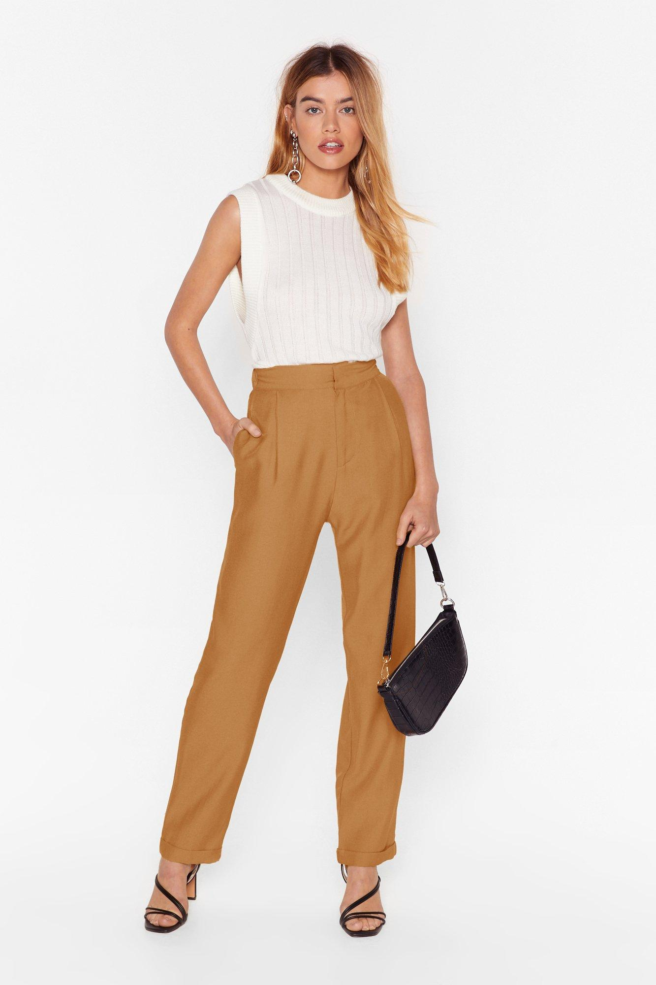 Image of Suiting For You High-Waisted Tapered Pants
