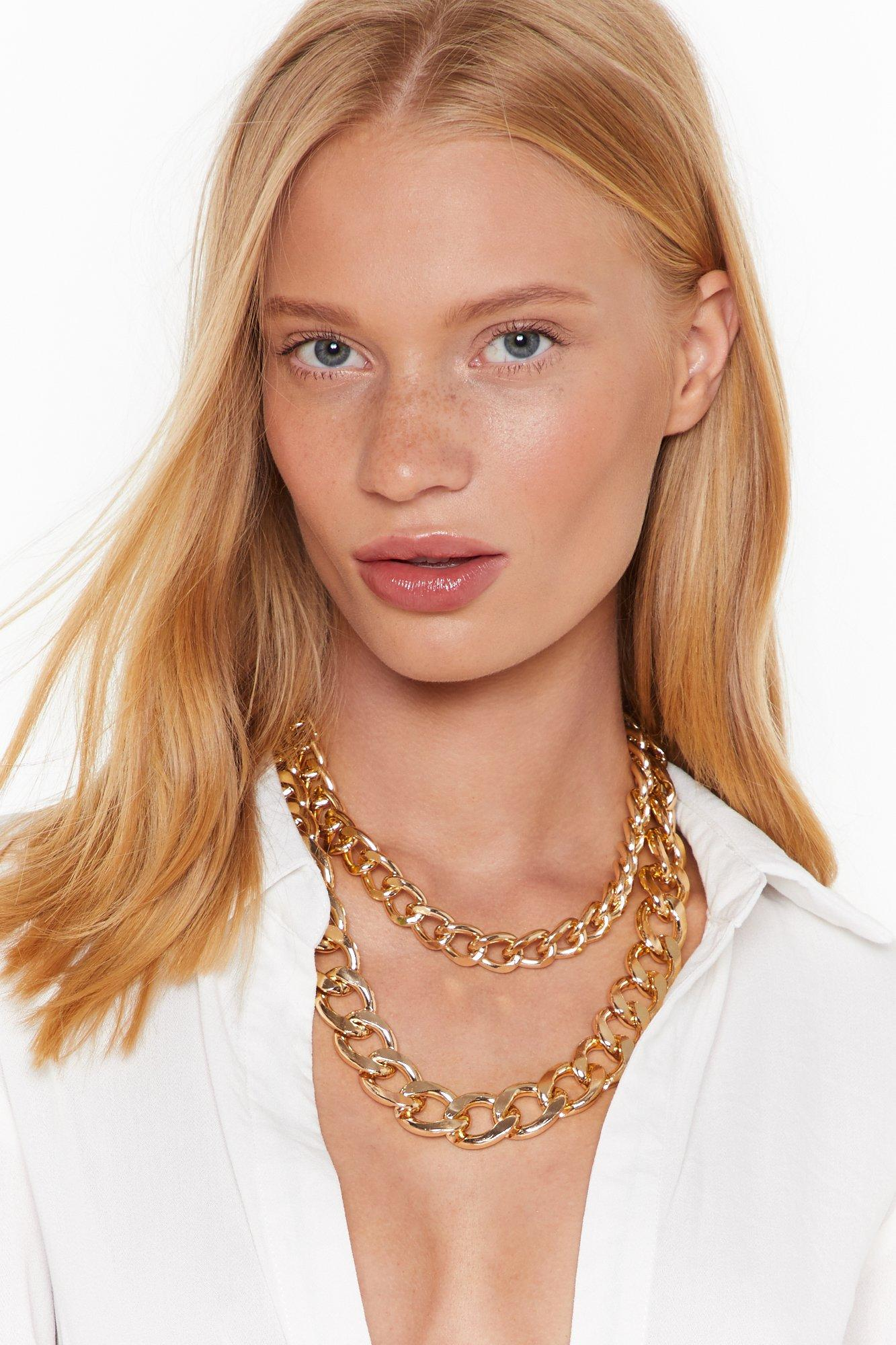 Image of Chunky and Funky Layered Chain Necklace