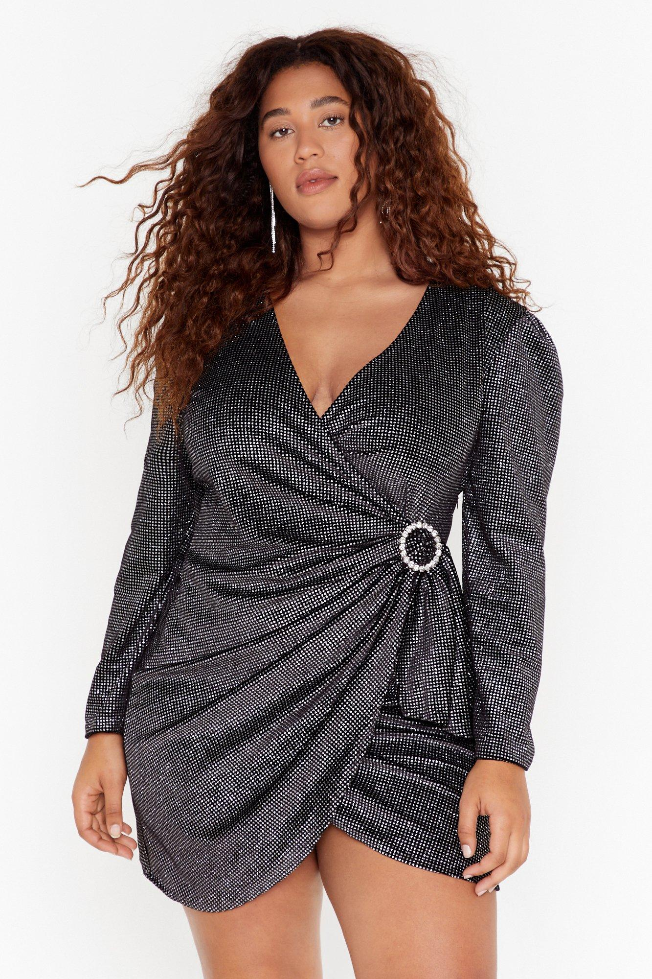 Image of Good Night Plus Wrap Dress