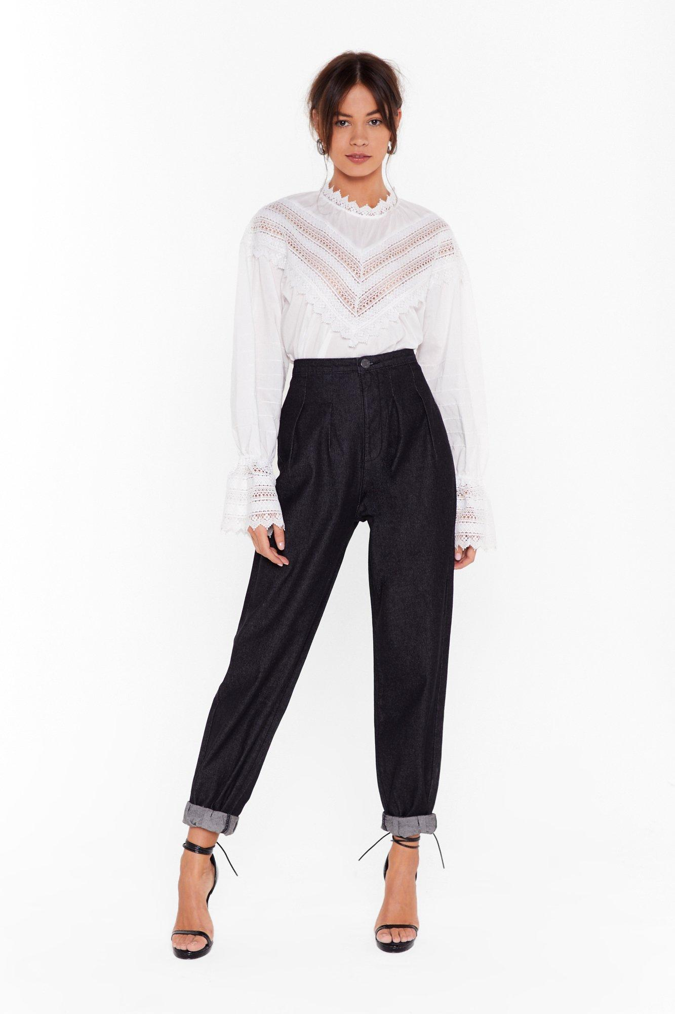 Image of Pleat Be Mine High-Waisted Mom Jeans