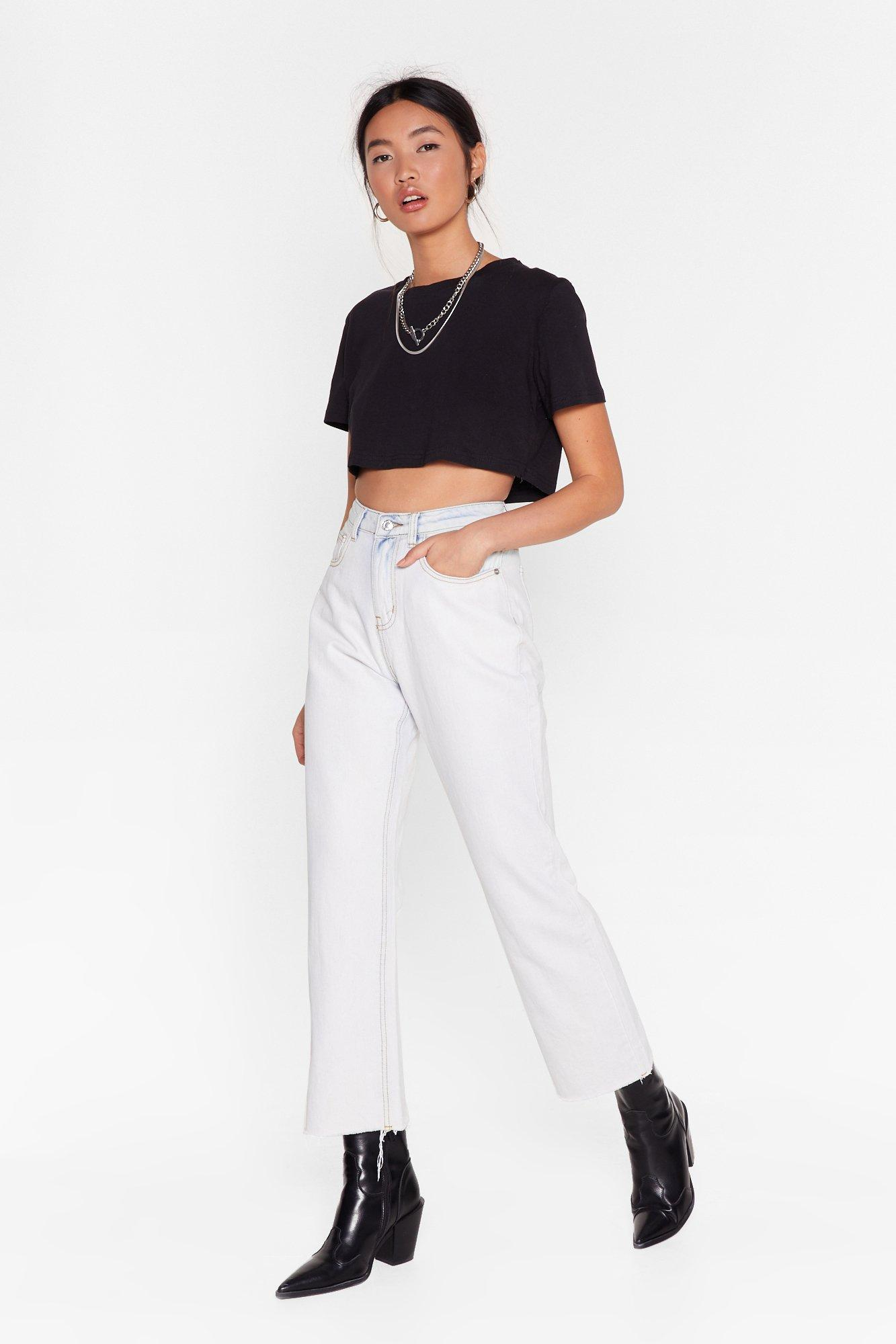 Image of I'm a Cool Mom High-Waisted Denim Jeans