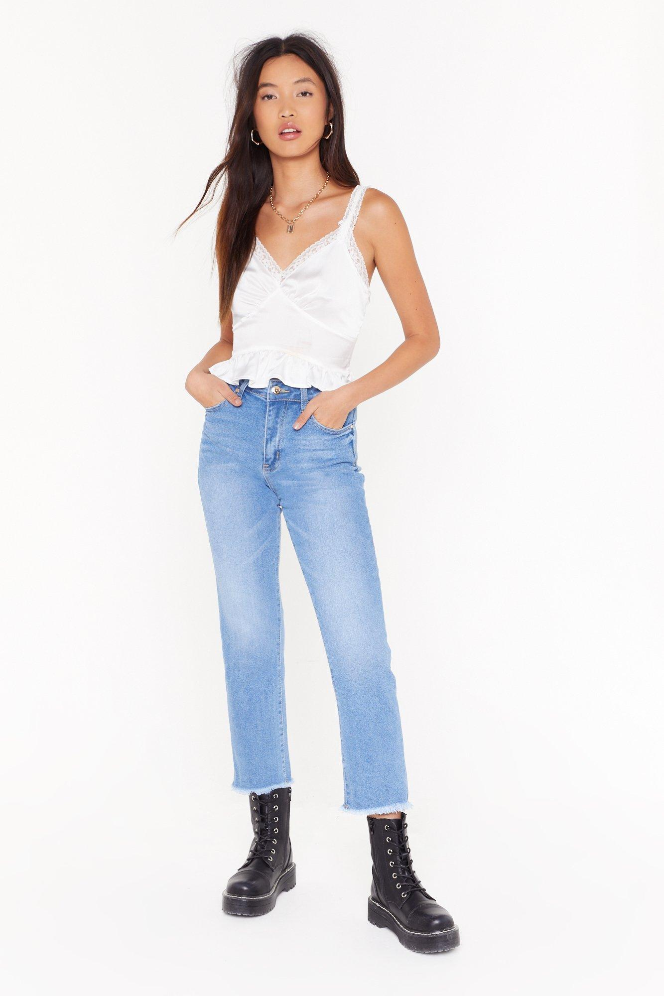 Image of Raw the Line High-Waisted Mom Jeans