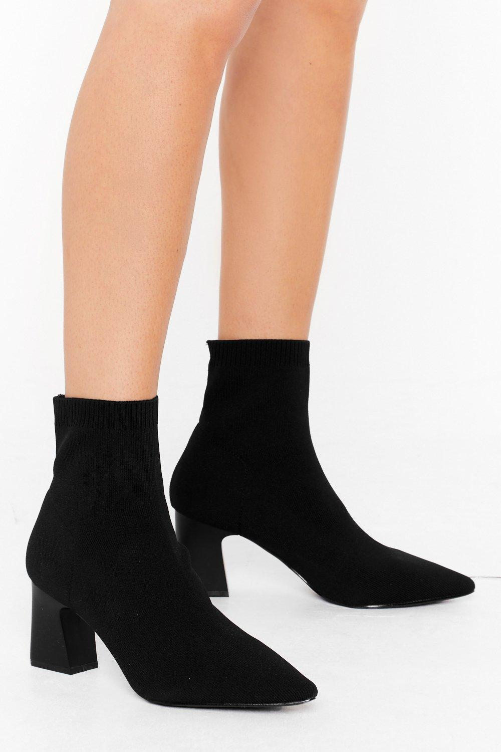 Image of Sock It to 'Em Wide Fit Block Heel Boots